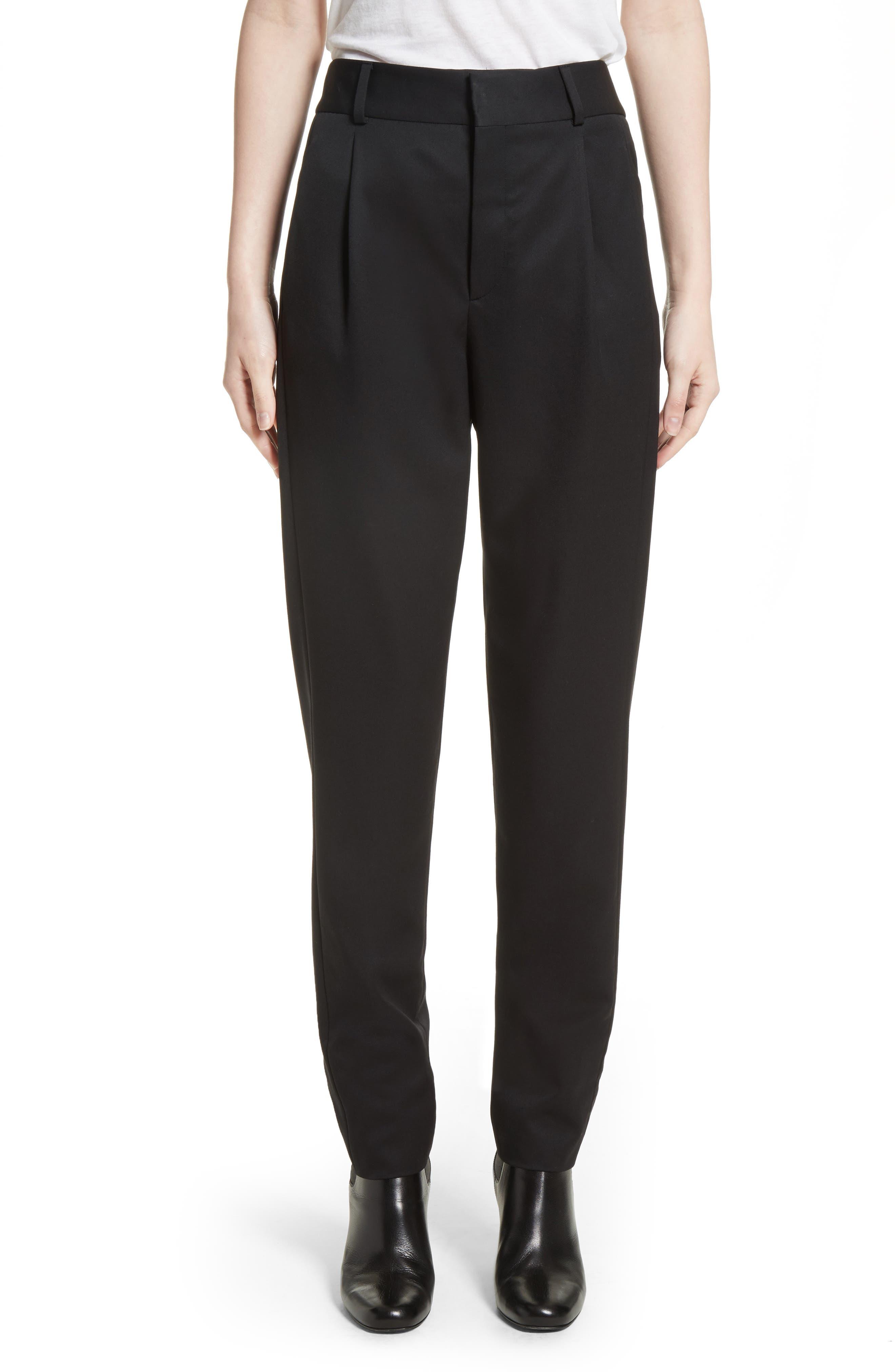 Saint Laurent Wool Pleated Pants