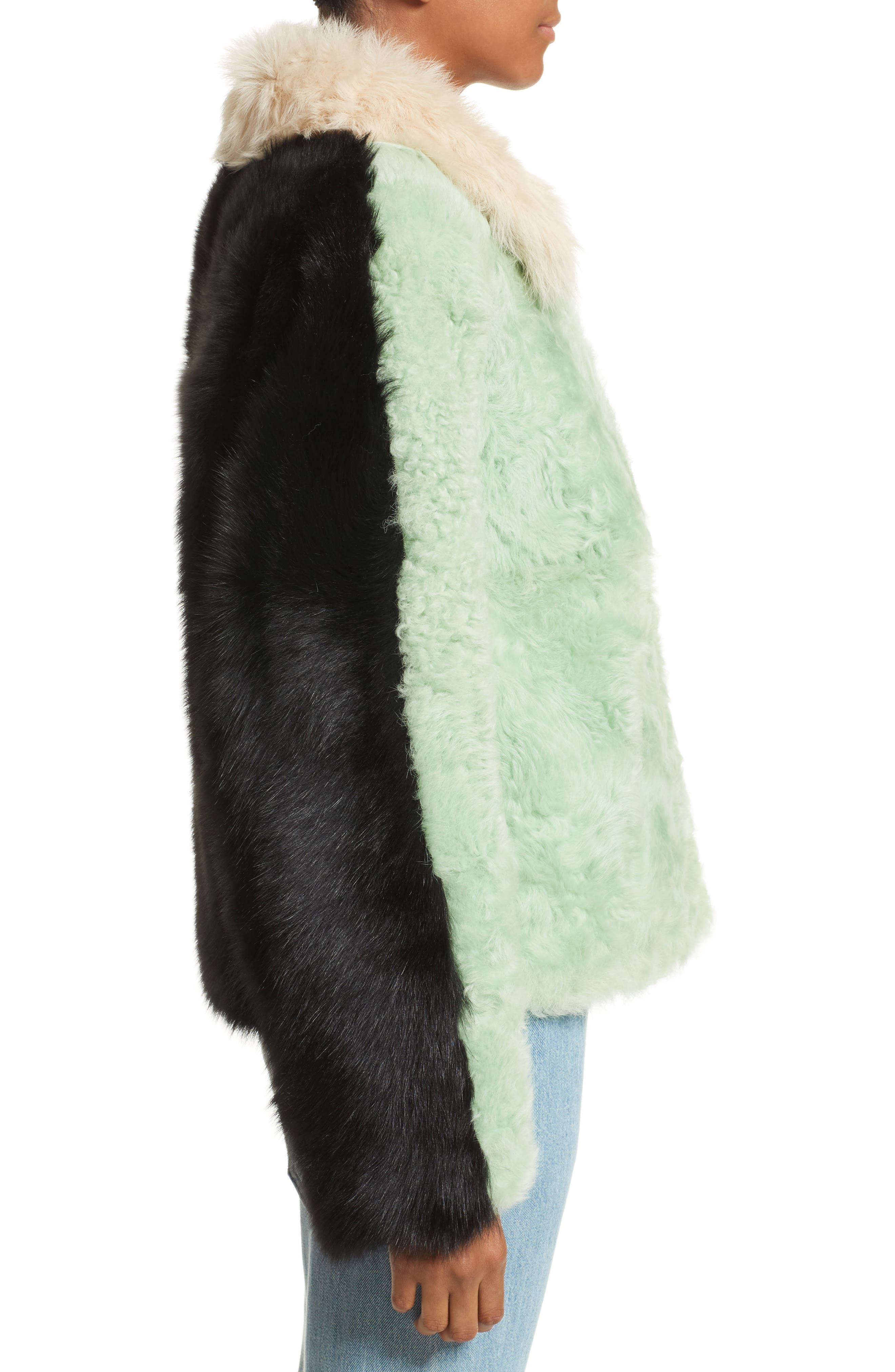 Alternate Image 6  - Sandy Liang Cashew Genuine Shearling Coat