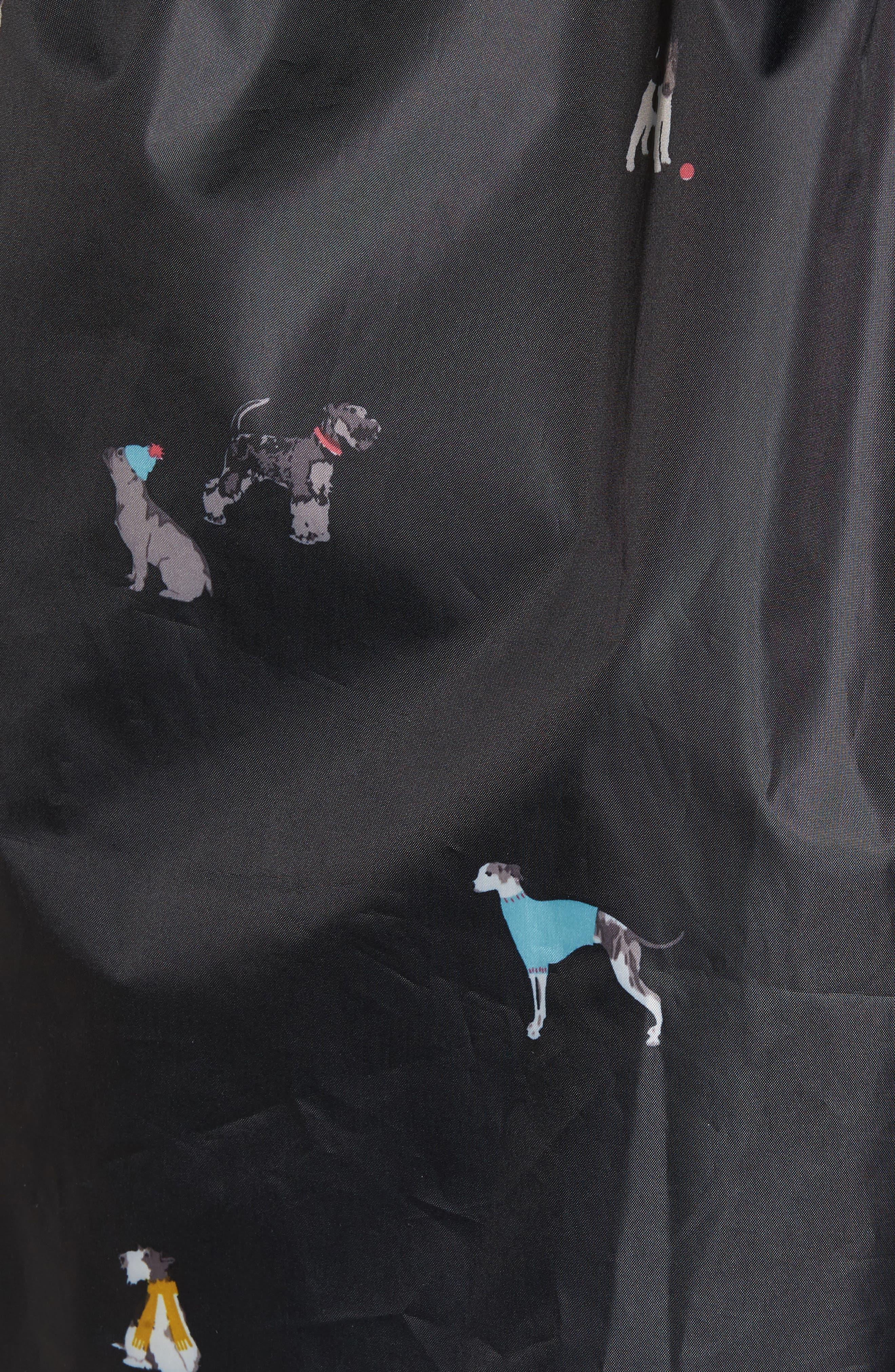 Alternate Image 5  - Joules Right as Rain Packable Print Hooded Raincoat