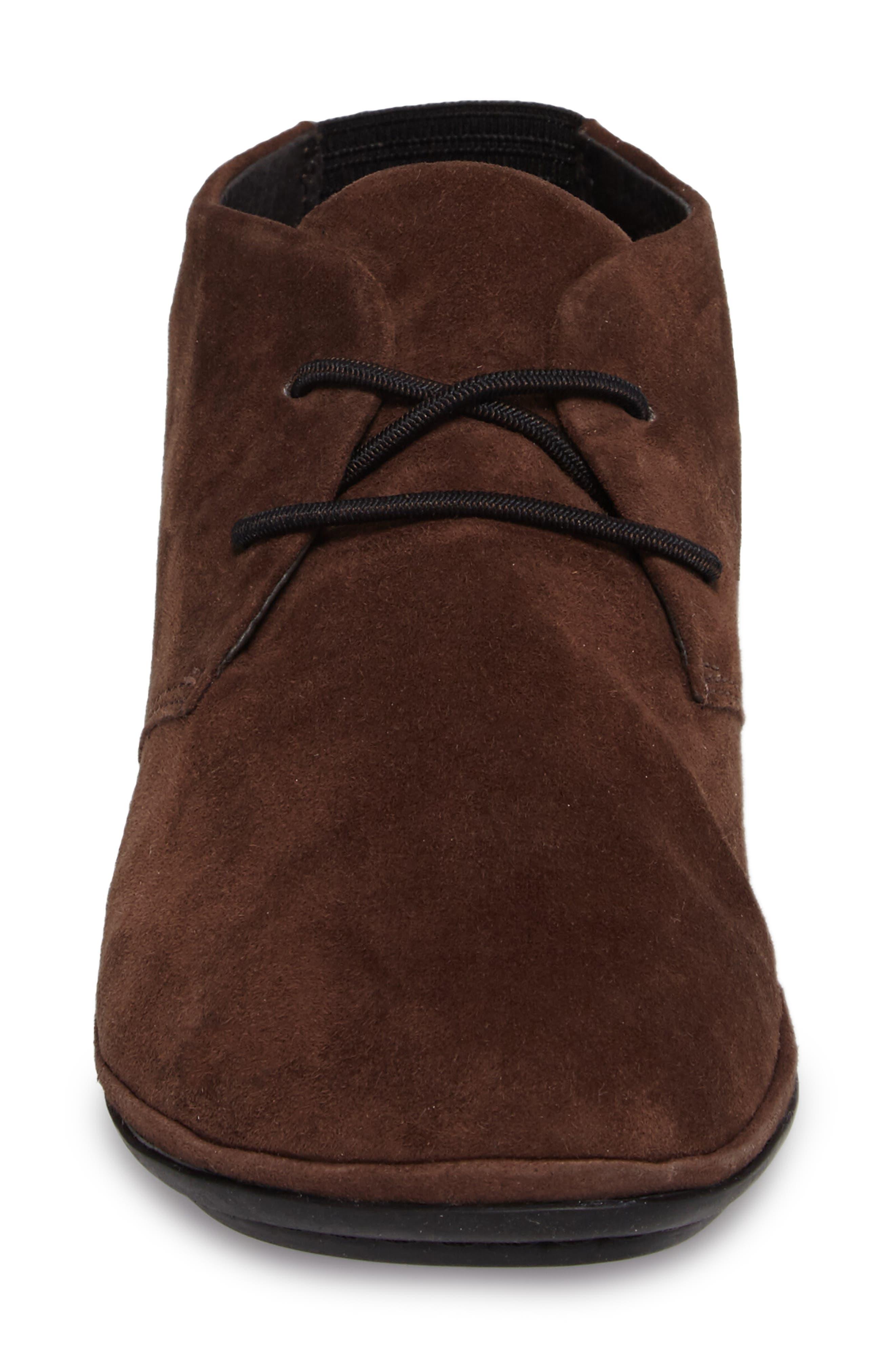 Right Nina Desert Shoe,                             Alternate thumbnail 4, color,                             Medium Brown Leather