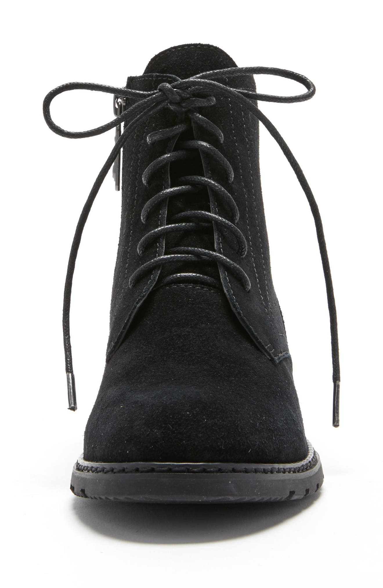 Vivi Waterproof Boot,                             Alternate thumbnail 4, color,                             Black Suede