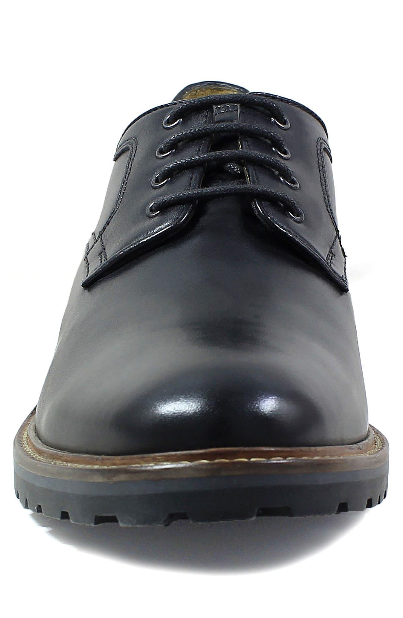 Estabrook Plain Toe Derby,                             Alternate thumbnail 4, color,                             Black