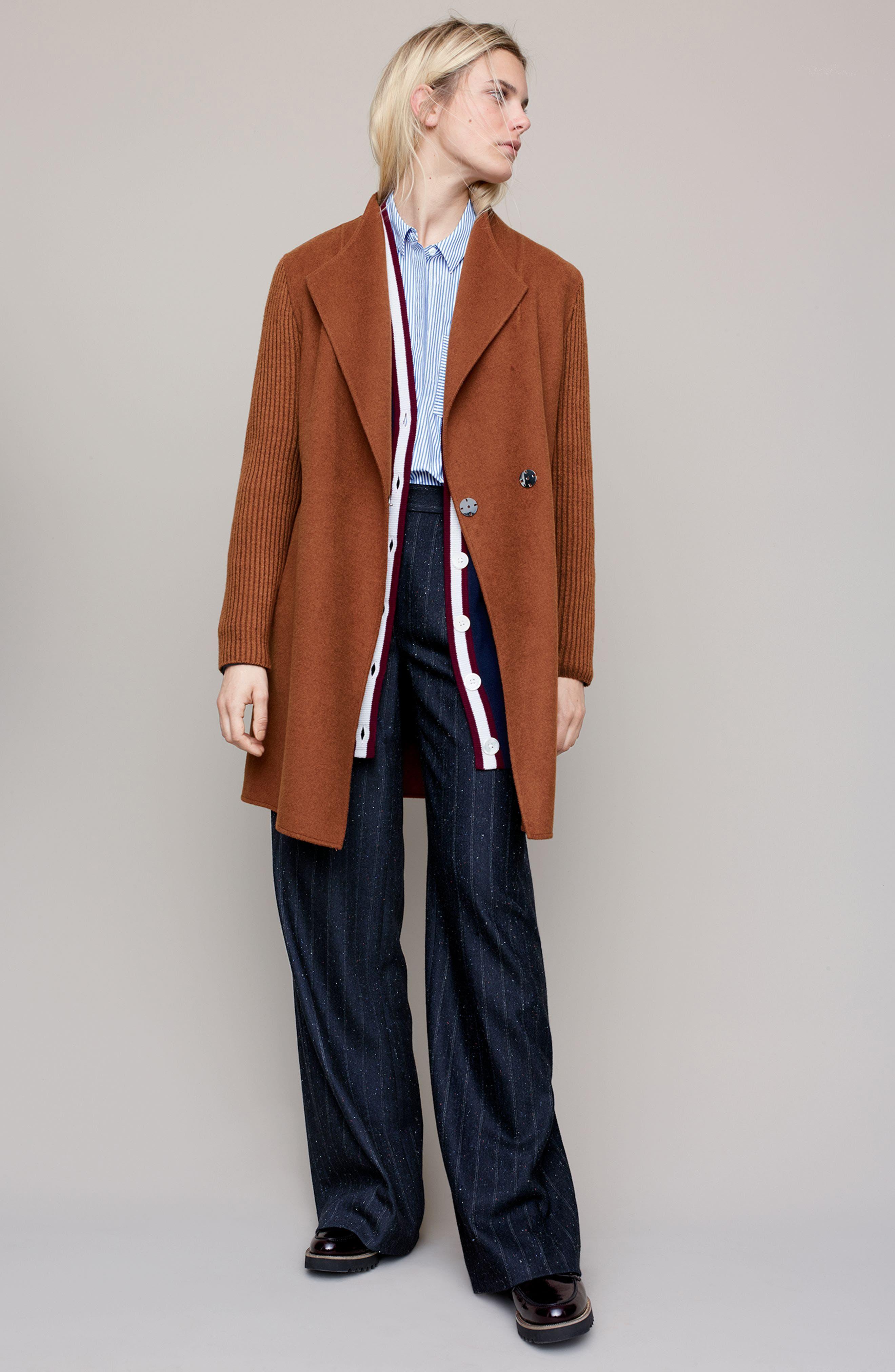 Alternate Image 2  - Kenneth Cole New York Double Face Coat (Regular & Petite)
