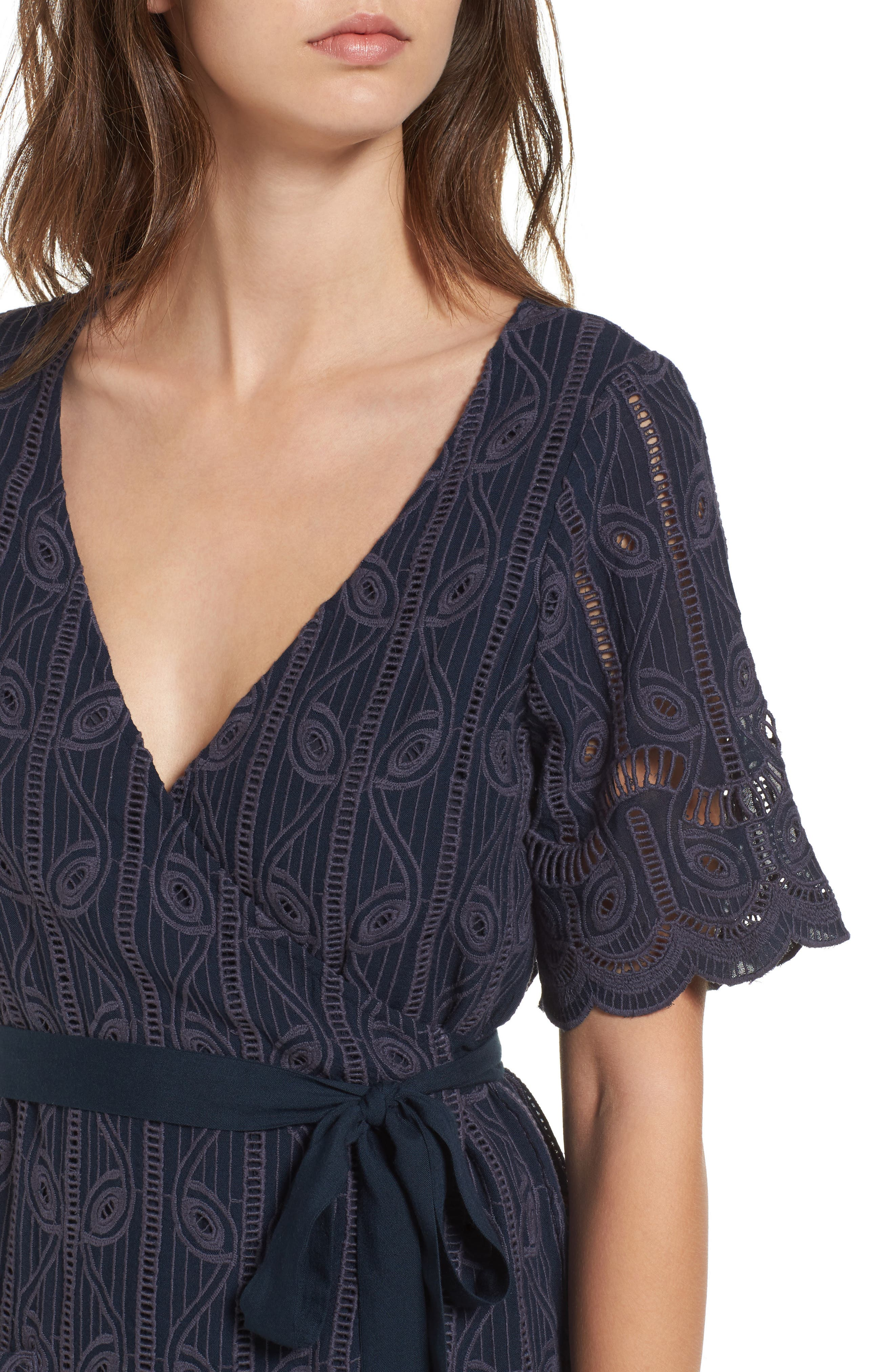 Alternate Image 4  - Tularosa Rocky Cutwork Embroidery Wrap Dress