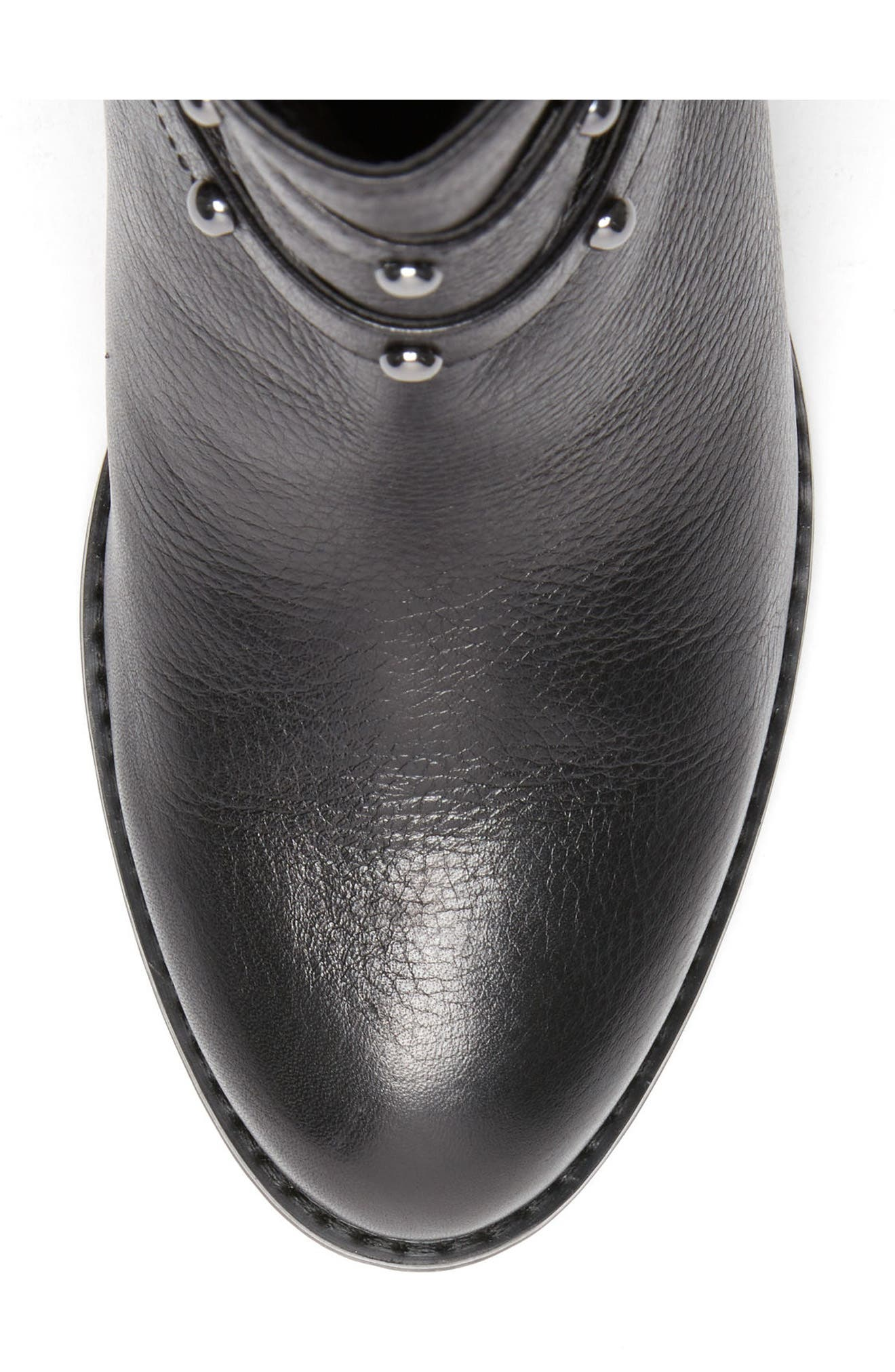 Analise Waterproof Boot,                             Alternate thumbnail 5, color,                             Black Leather