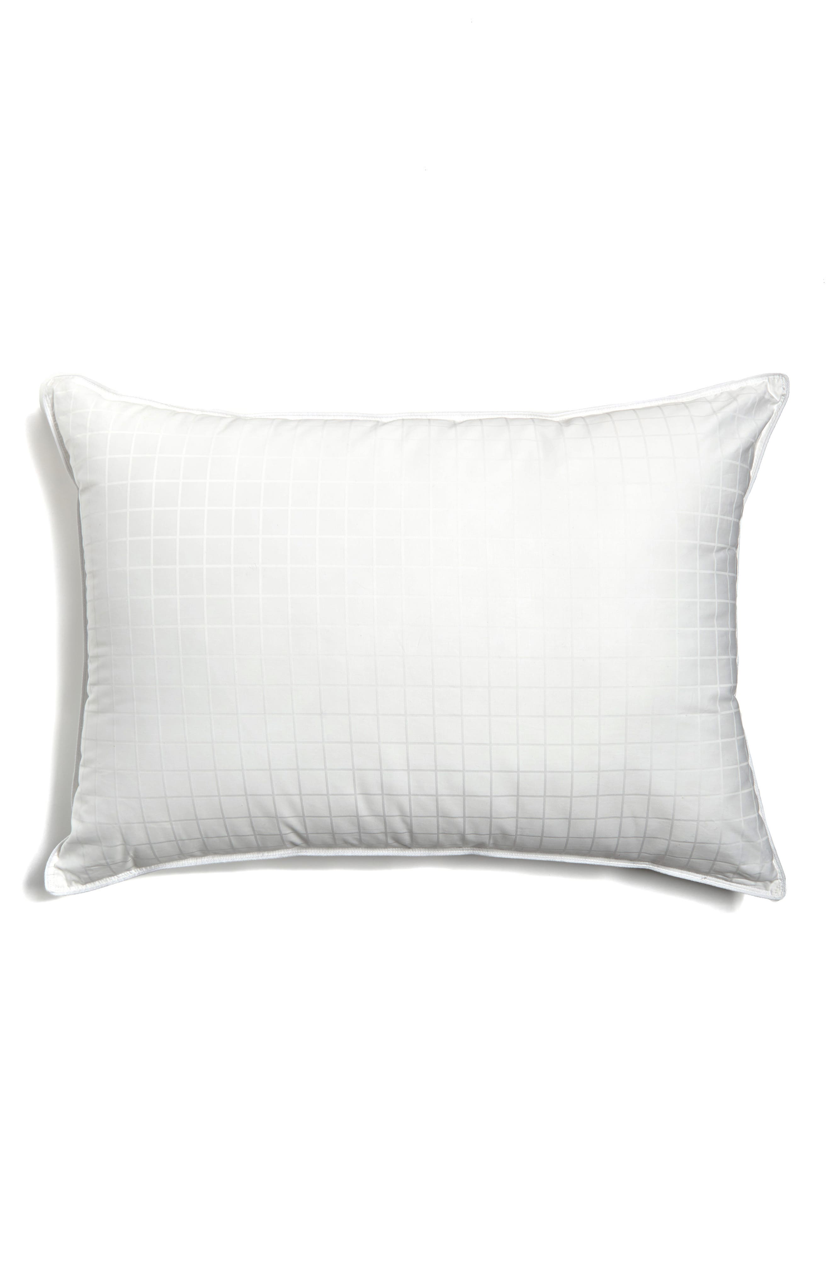 Luxe Down & Feather Pillow,                             Alternate thumbnail 2, color,                             White
