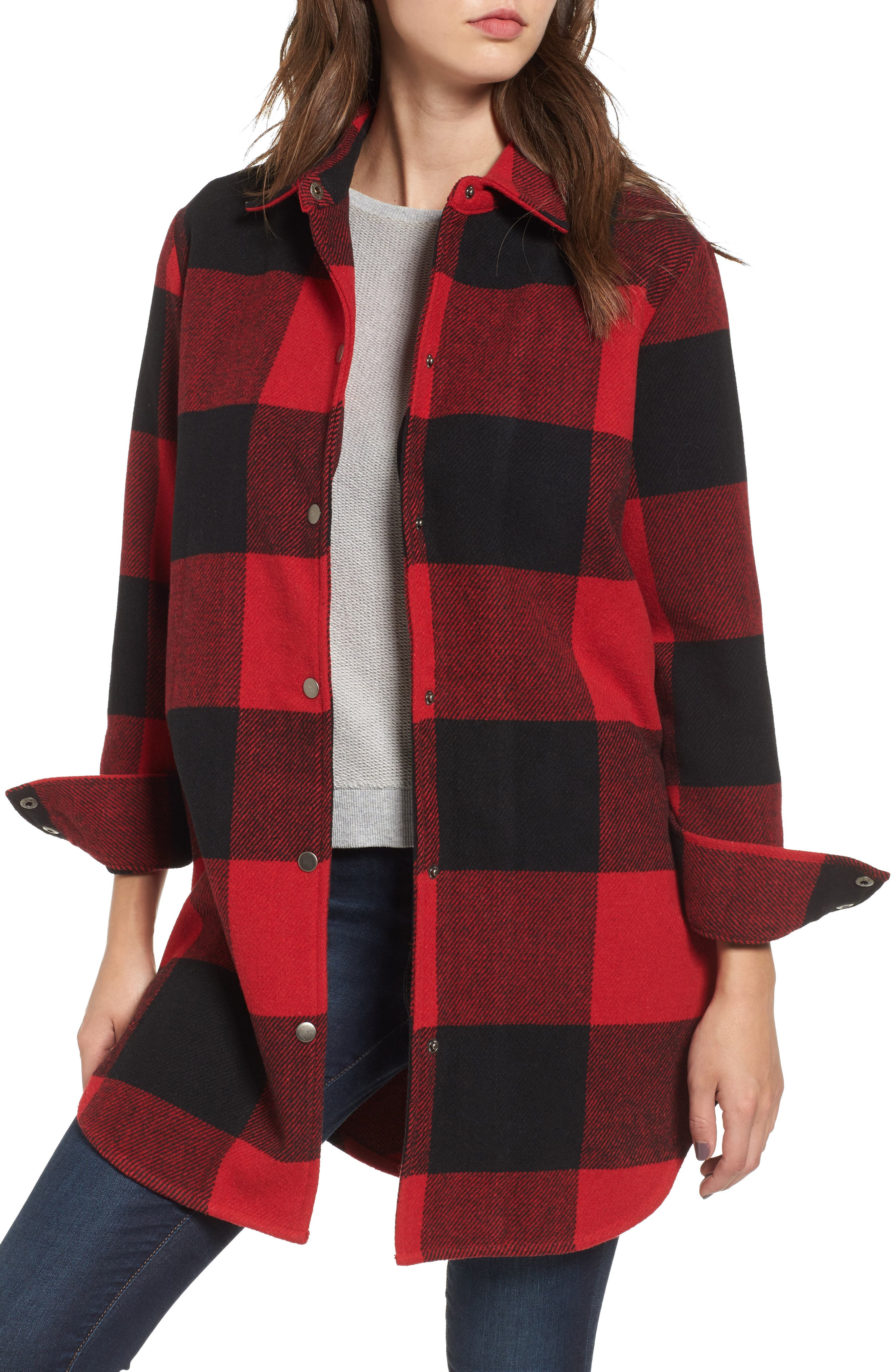 Alternate Image 4  - BB Dakota Eldridge Oversize Buffalo Check Shirt Jacket