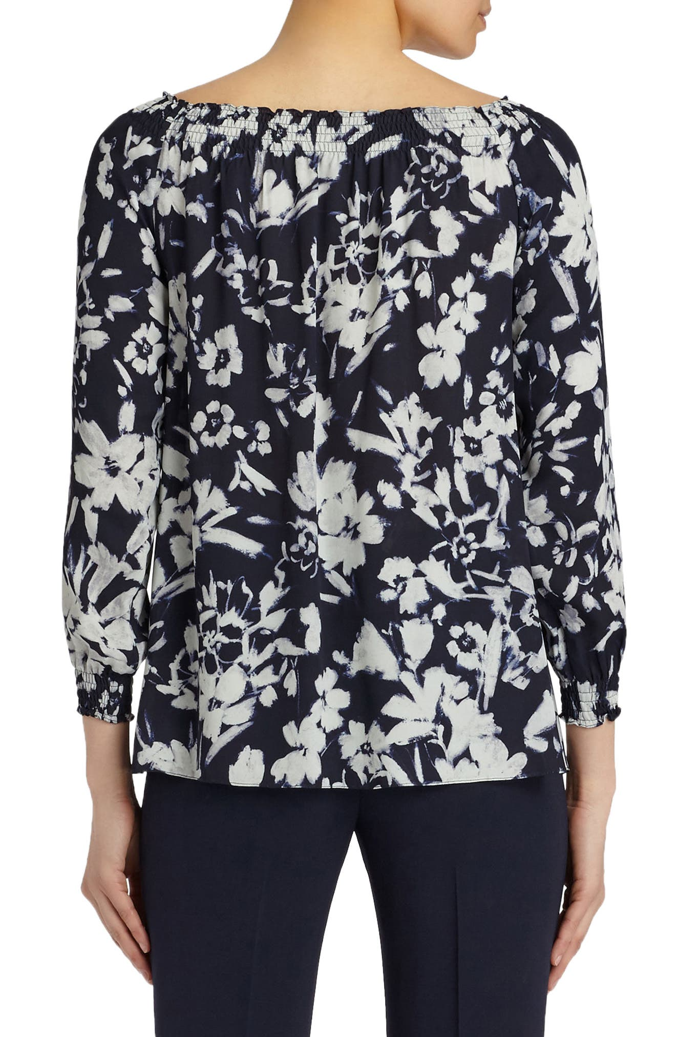 Alternate Image 2  - Lafayette 148 New York Raelyn Augusto Impression Crepe Blouse