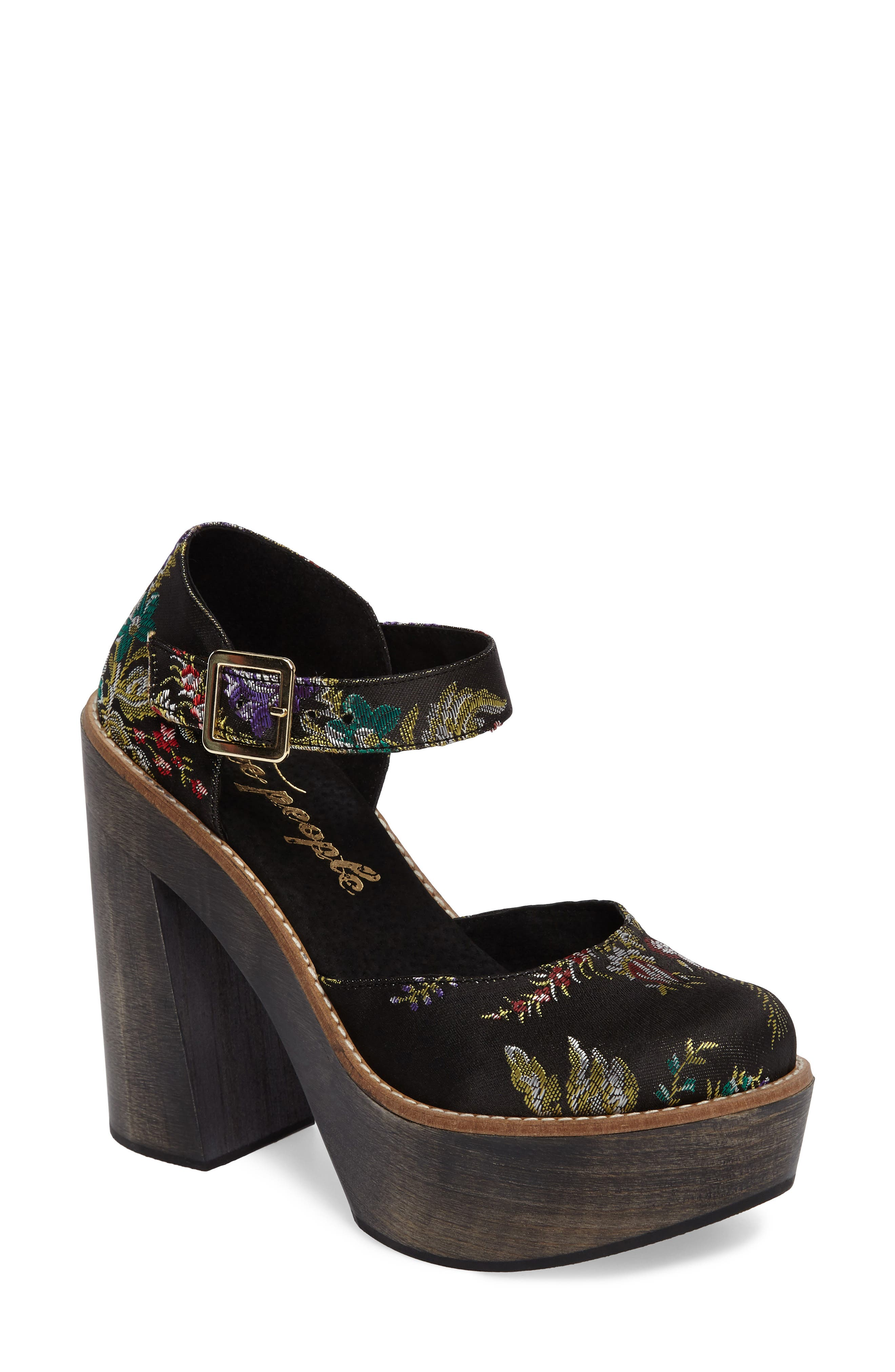Free People Starlet Embroidered Platform Pump (Women)