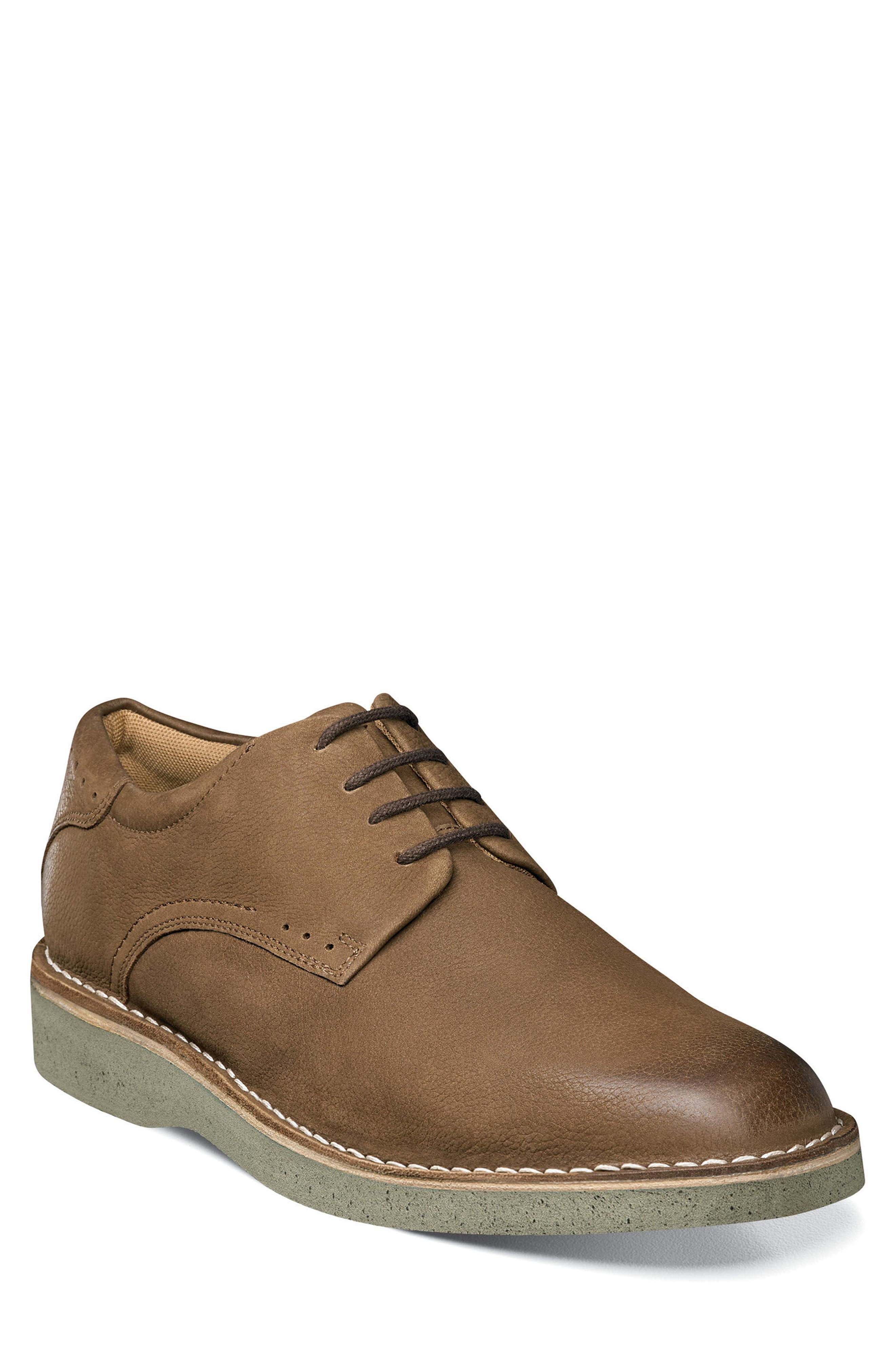 Navigator Plain Toe Oxford,                             Main thumbnail 1, color,                             Cocoa Nubuck Leather