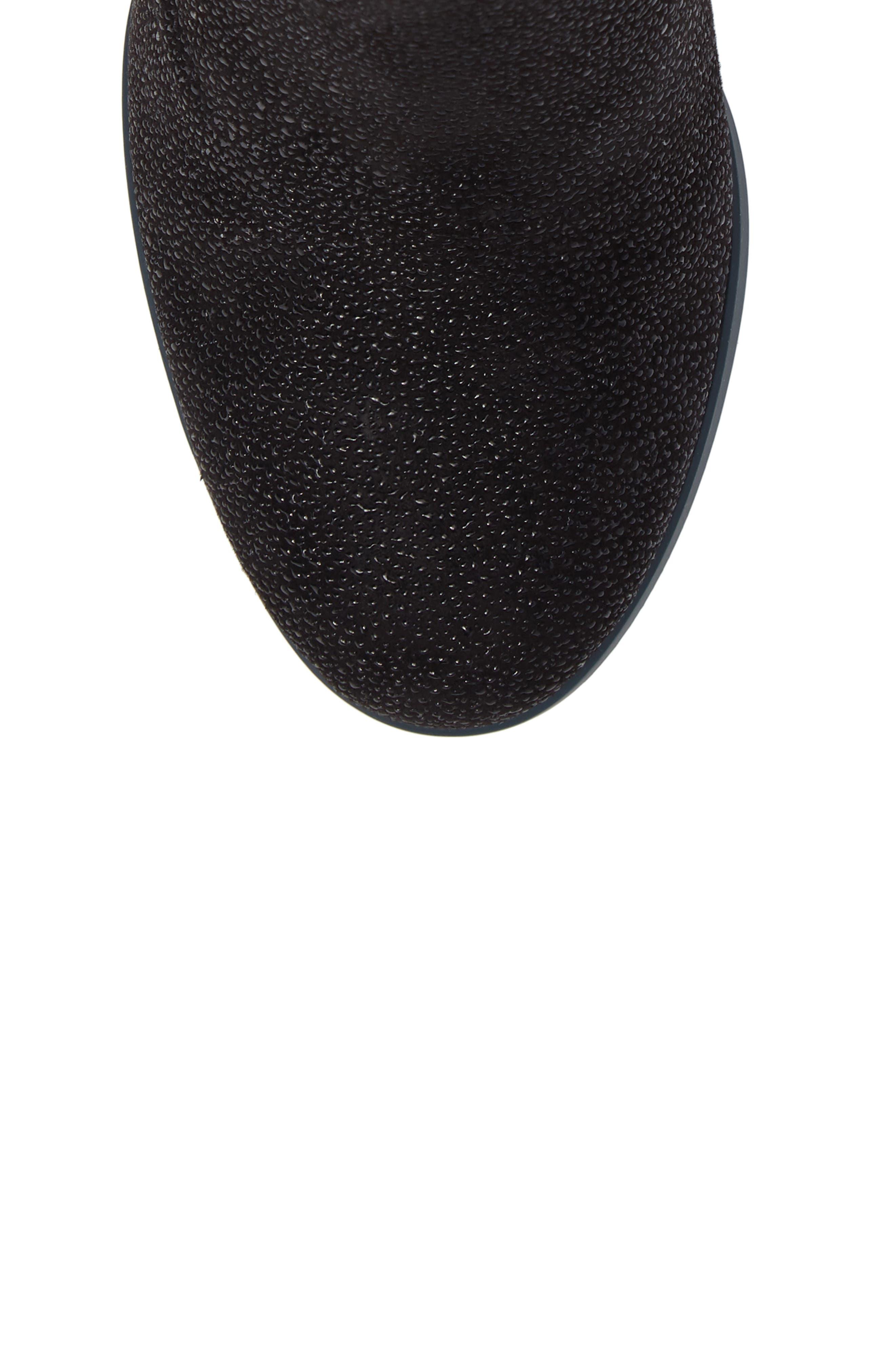 Kara Flared Heel Bootie,                             Alternate thumbnail 5, color,                             Black Sparkle Leather