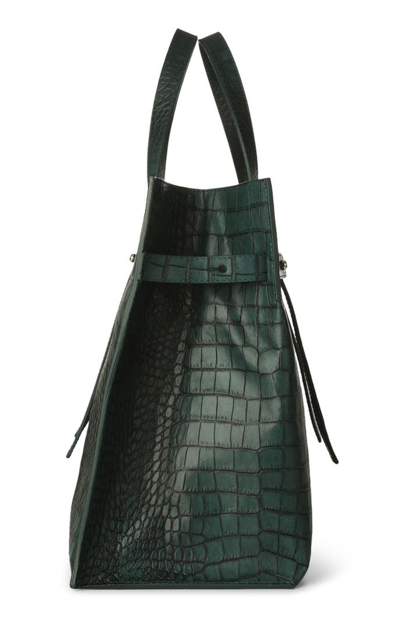 Alternate Image 4  - Orciani Petra Croc-Embossed Calfskin Leather Tote