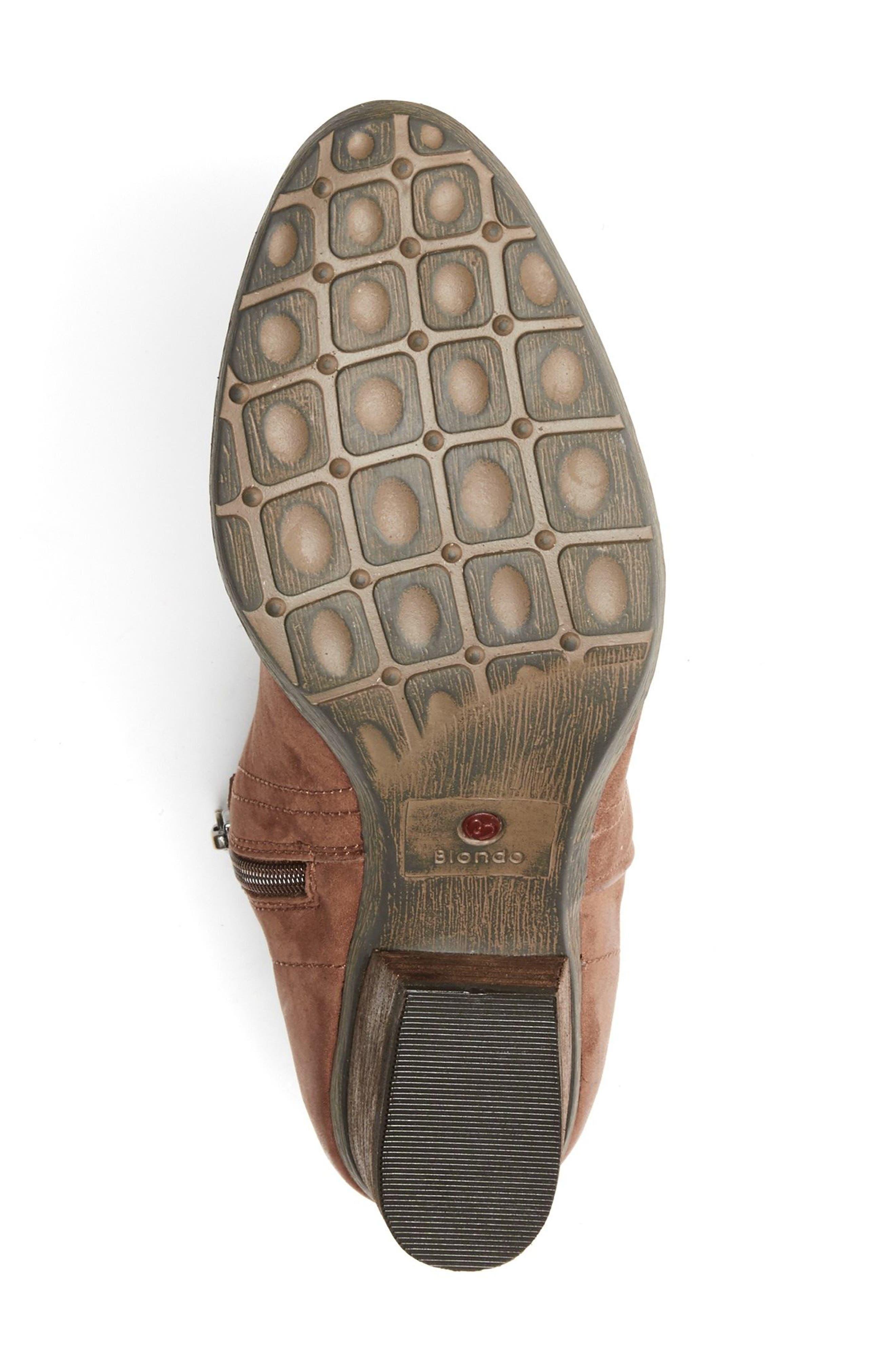 'Valli' Waterproof  Bootie,                             Alternate thumbnail 6, color,                             Cognac Nubuck Leather