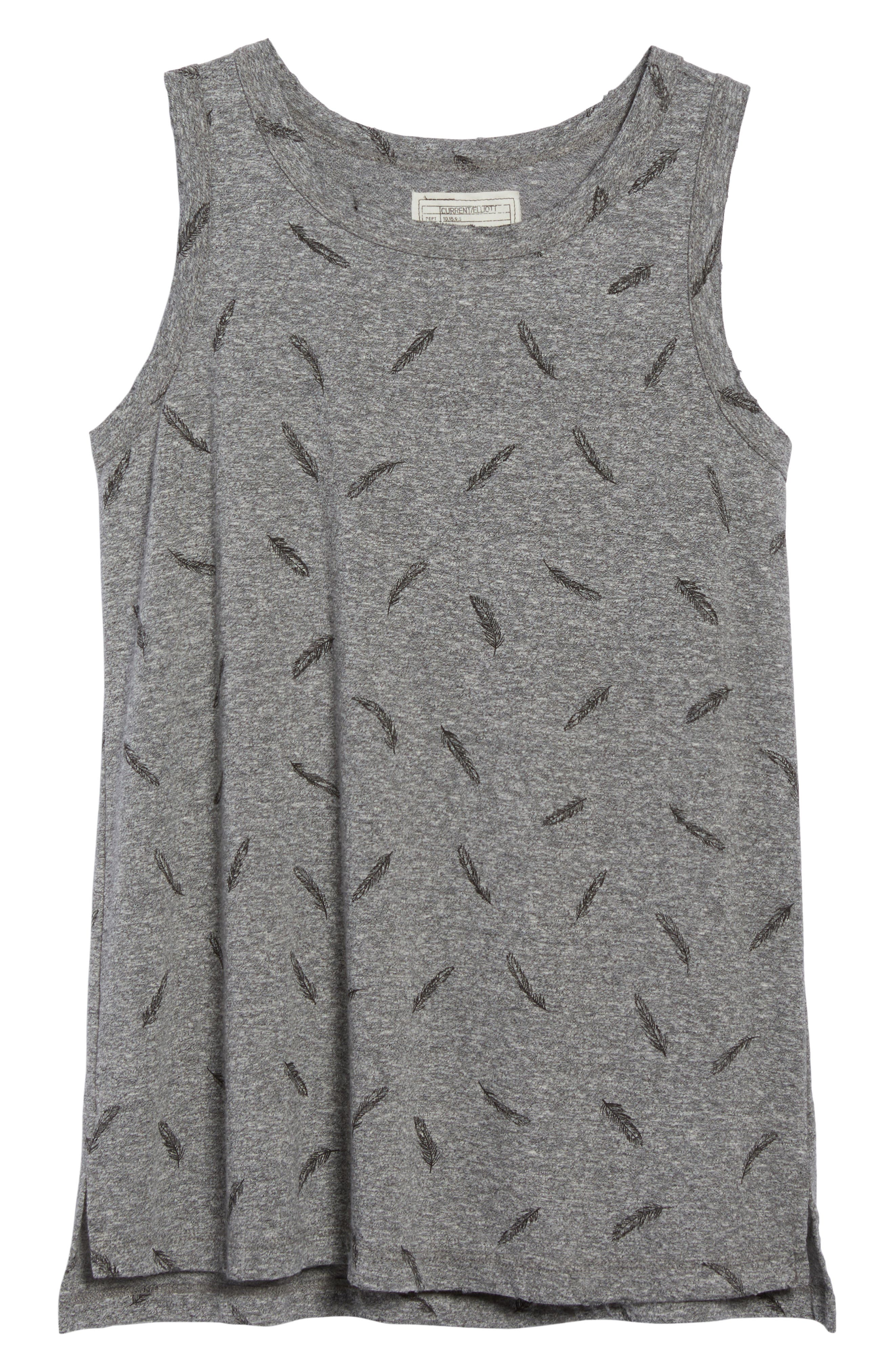 The Muscle Print Tank,                             Alternate thumbnail 5, color,                             Heather Grey W/ Feather
