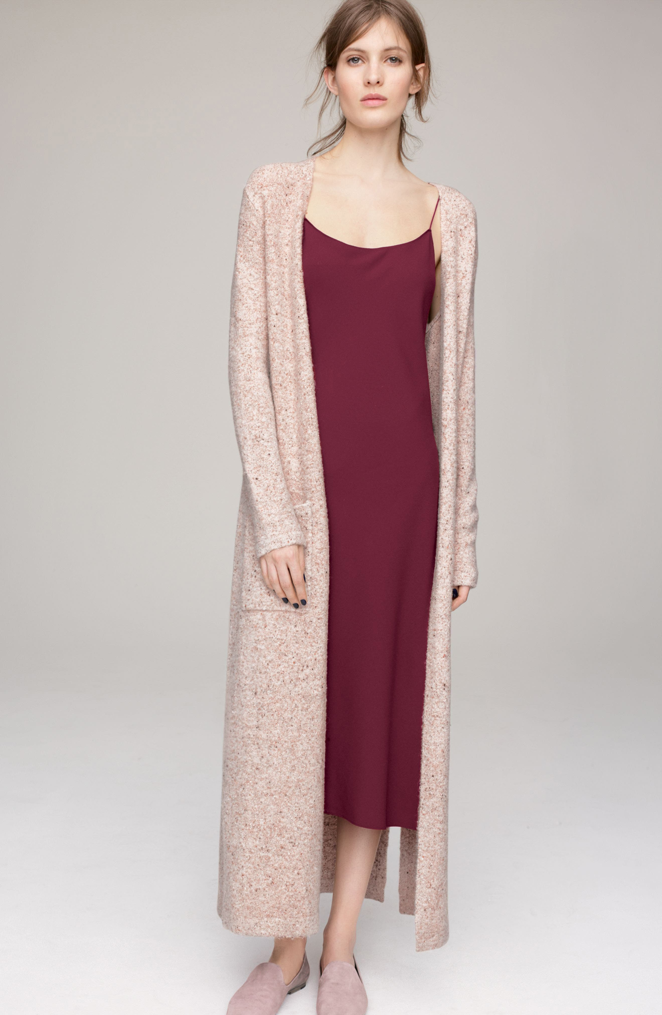 Torina Donegal Longline Cardigan,                             Alternate thumbnail 2, color,                             Oat Multi