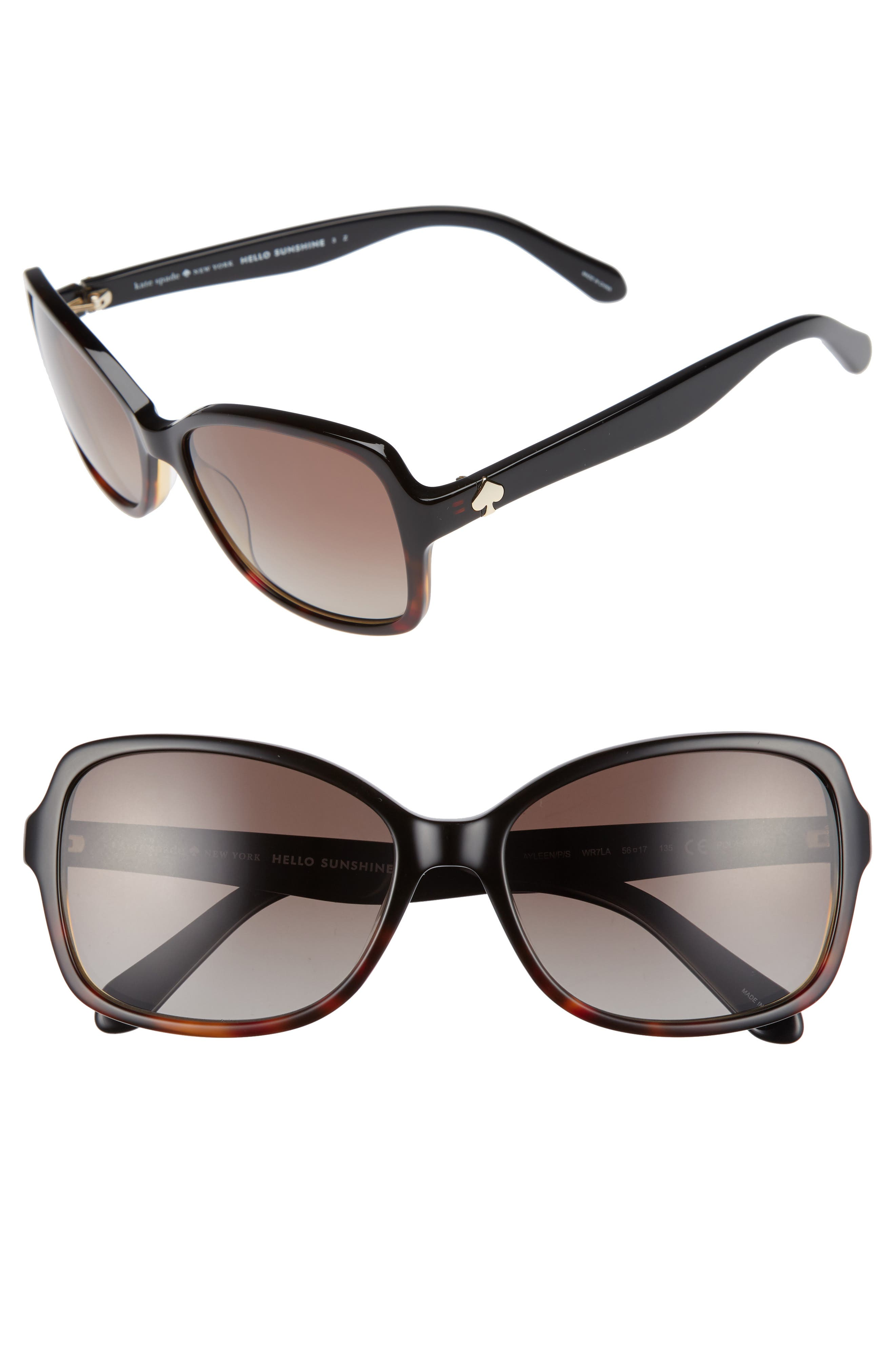 KATE SPADE NEW YORK ayleen 56mm polarized sunglasses