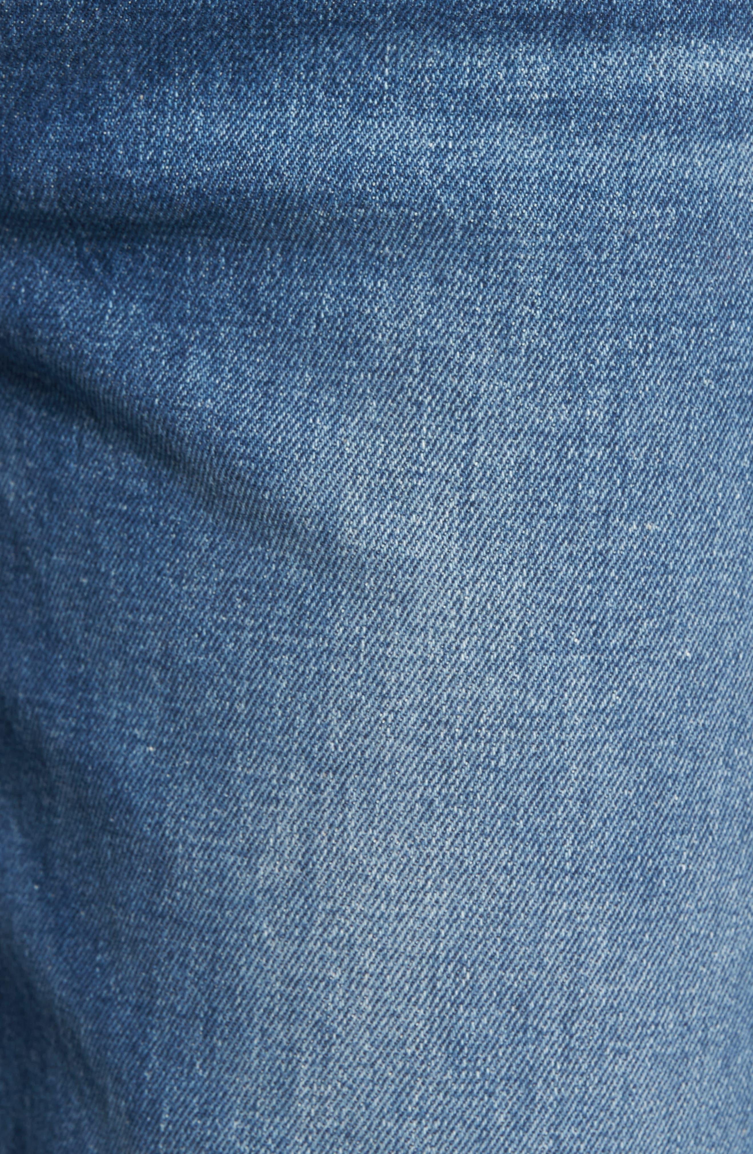 Alternate Image 6  - PAIGE Vintage - Sarah High Waist Crop Straight Leg Jeans (Kellan Destructed)
