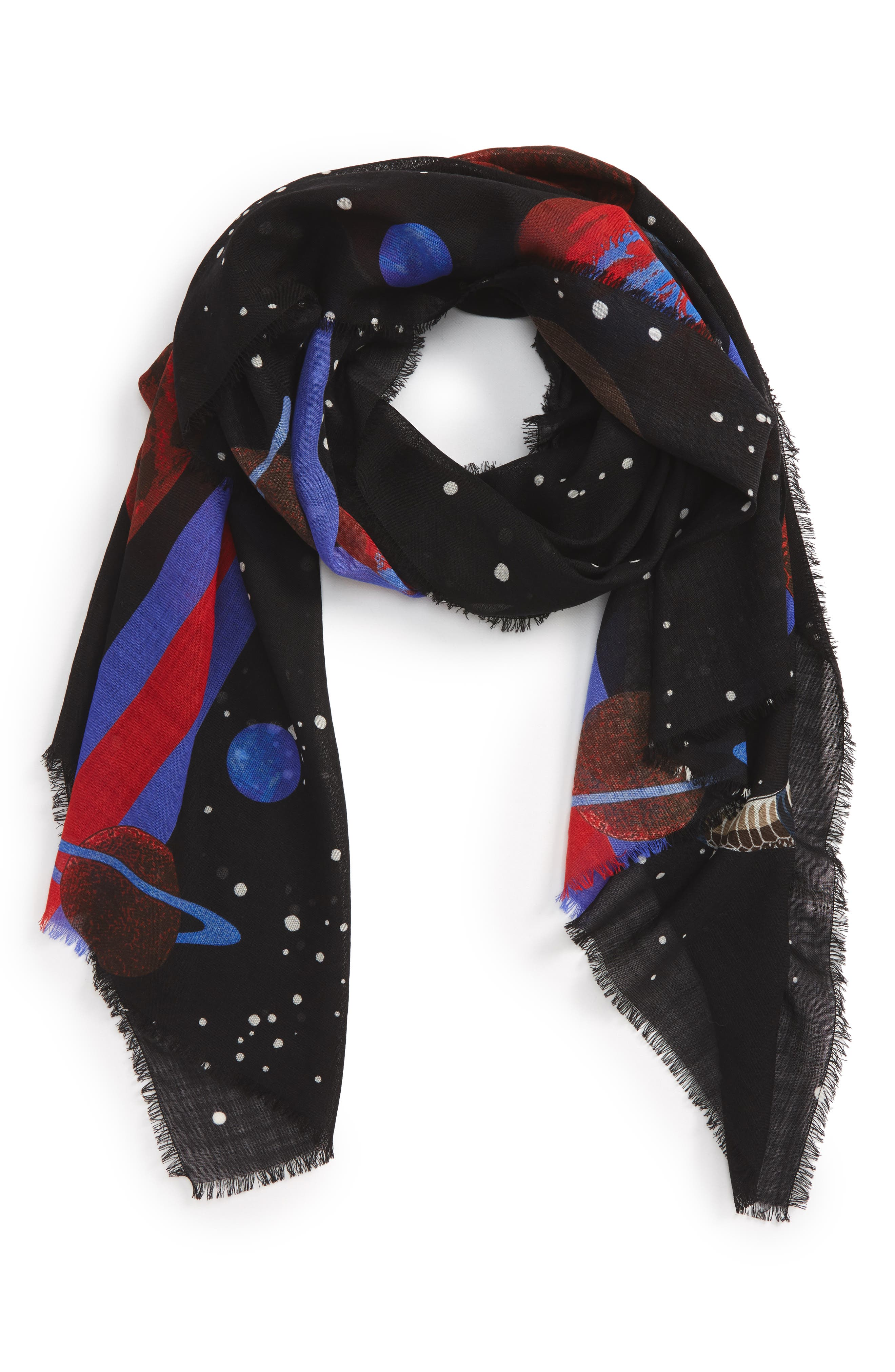 Gucci Space Snake Oblong Wool Scarf