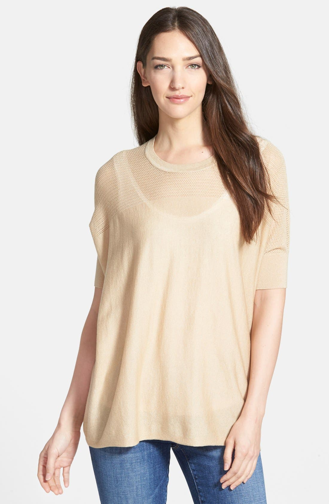 Main Image - Nordstrom Collection 'Lula' Open Stitched Yoke Pullover Sweater