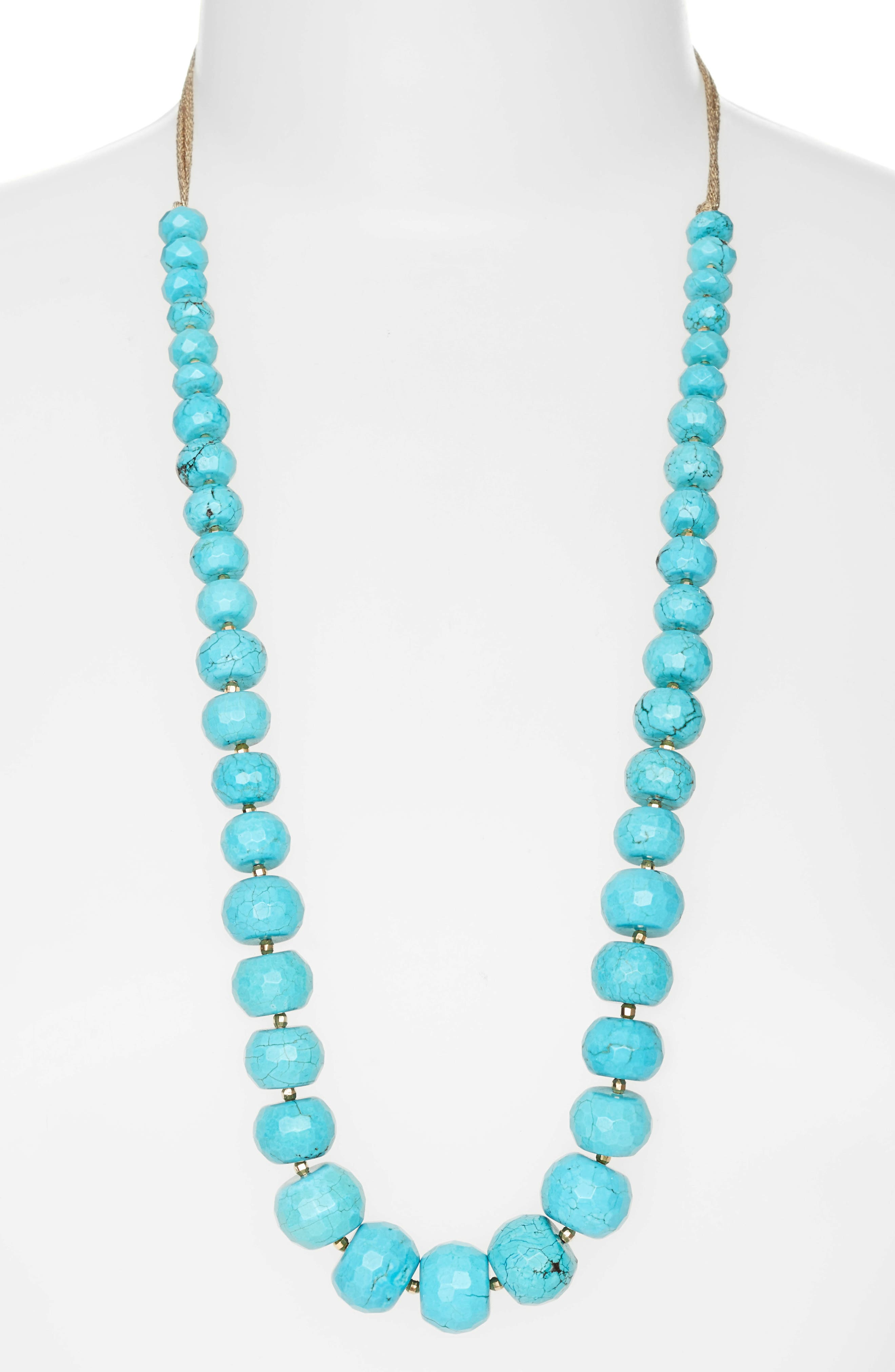 Alternate Image 1 Selected - Chan Luu Adjustable Beaded Necklace
