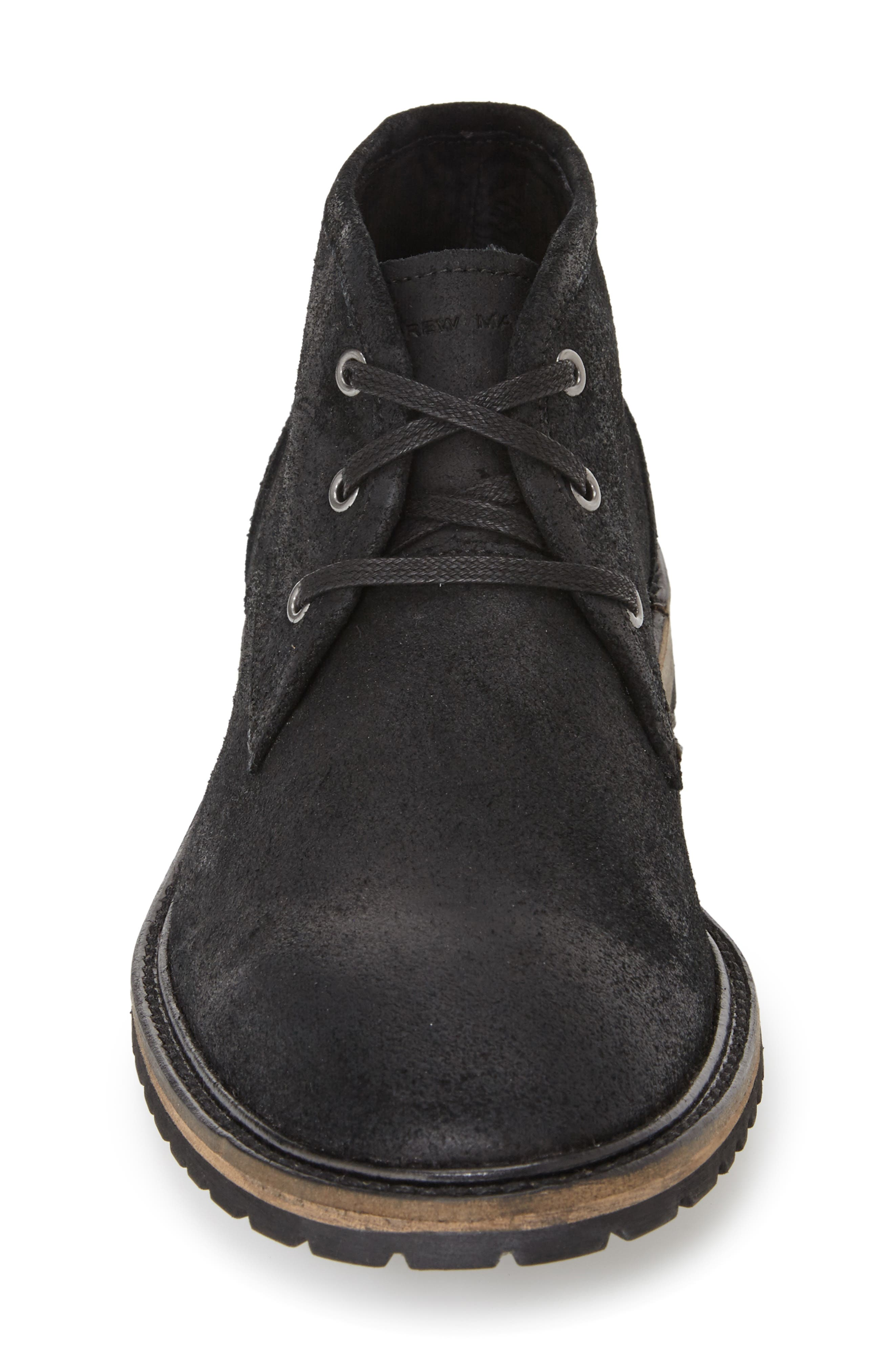 Woodside Chukka Boot,                             Alternate thumbnail 3, color,                             Black/ Deep Natural Suede