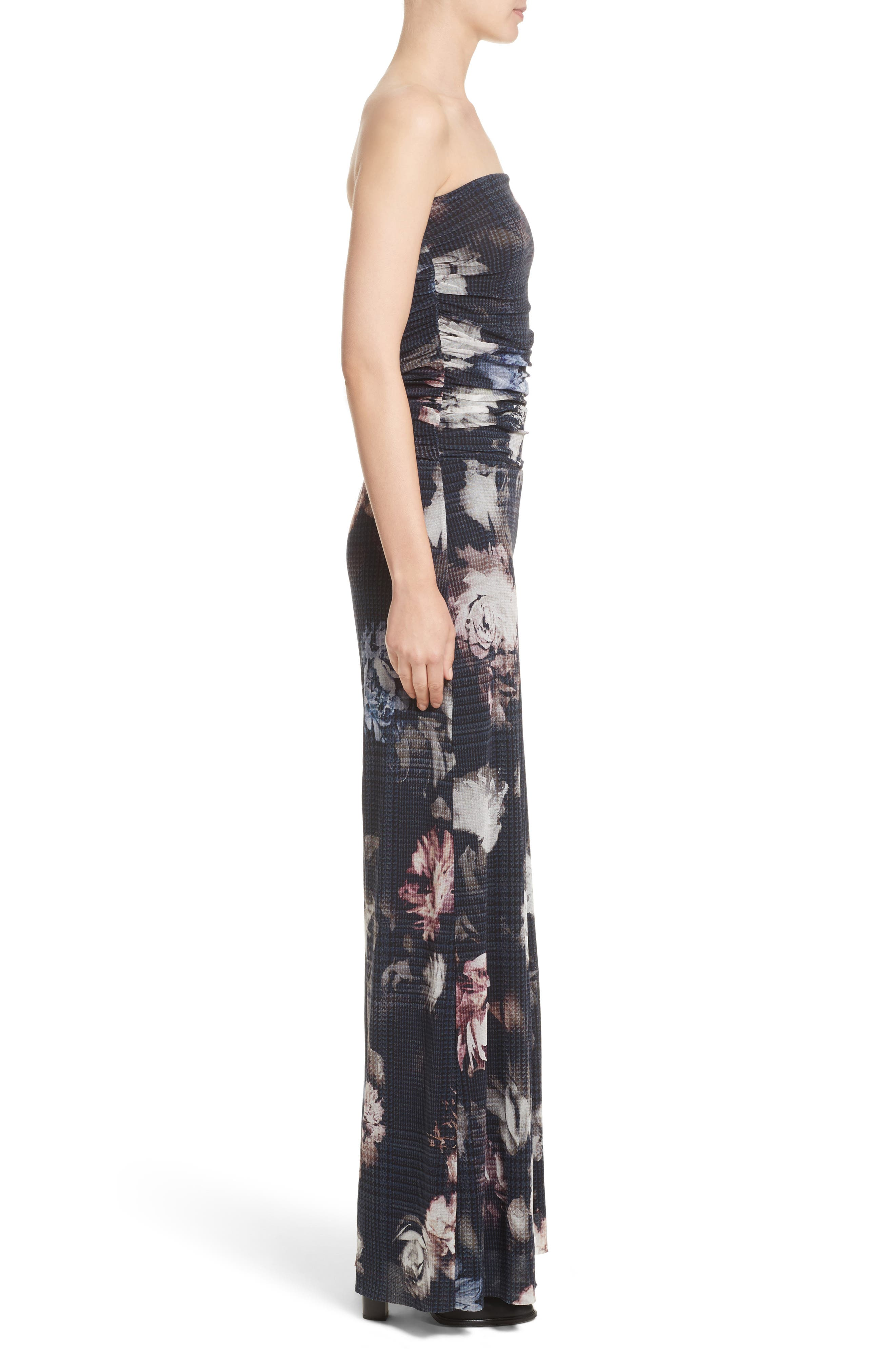Alternate Image 5  - Fuzzi Floral Print Tulle Strapless Jumpsuit