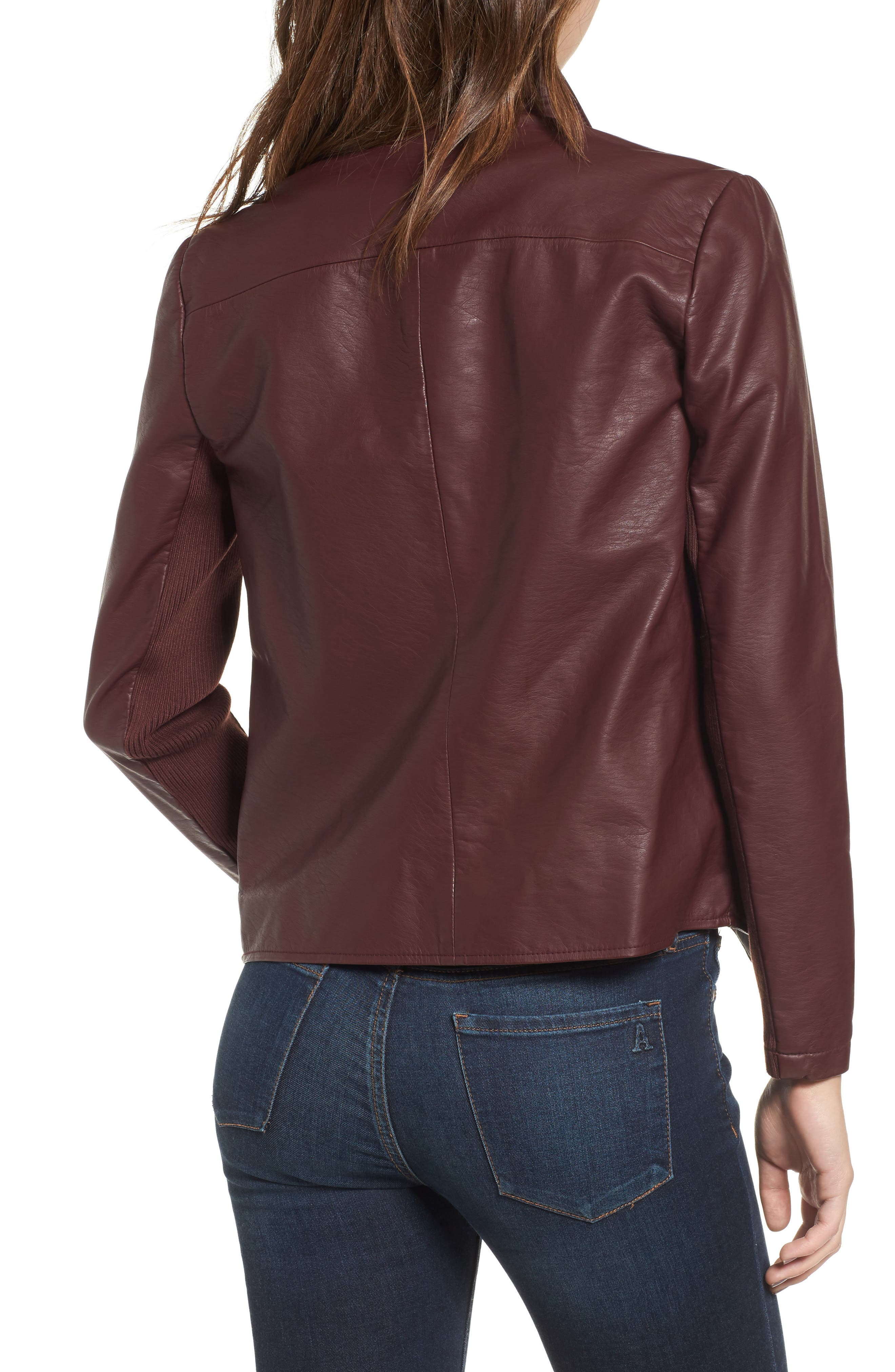 Alternate Image 2  - BB Dakota Gabrielle Faux Leather Asymmetrical Jacket