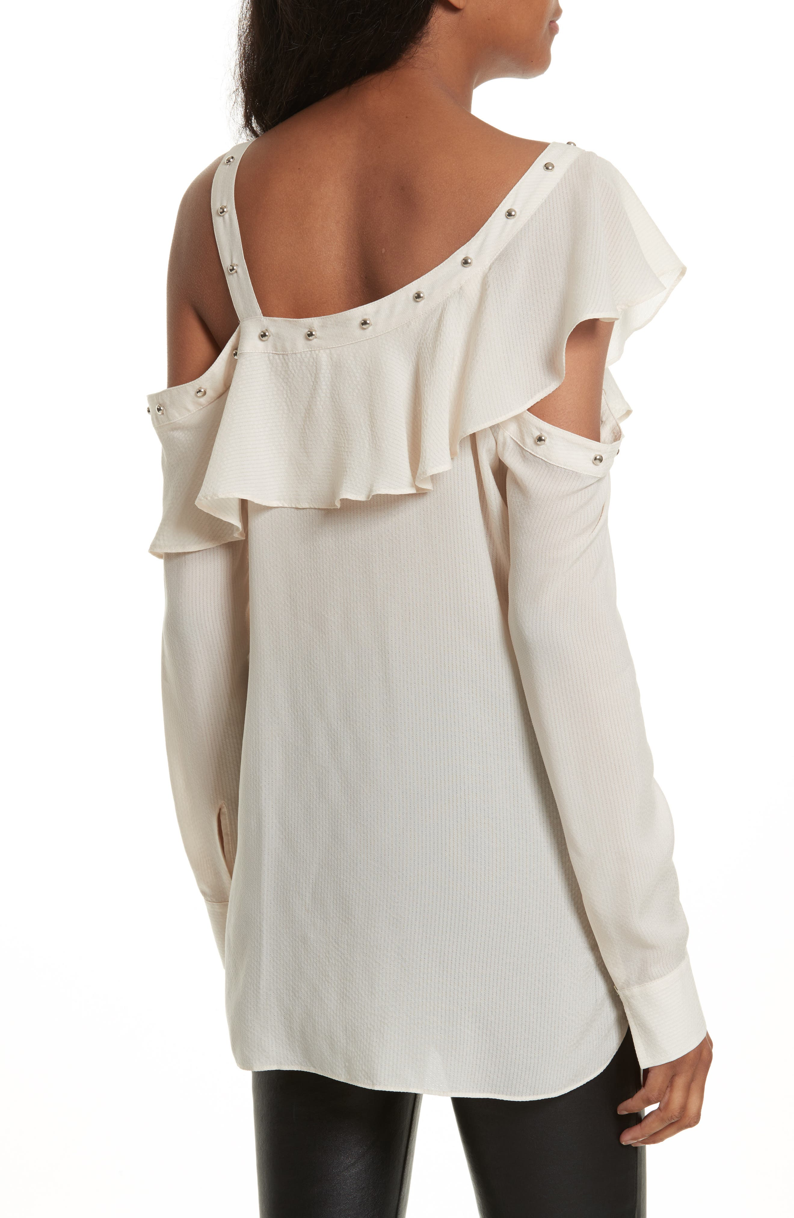 Clementine Off the Shoulder Top,                             Alternate thumbnail 3, color,                             White