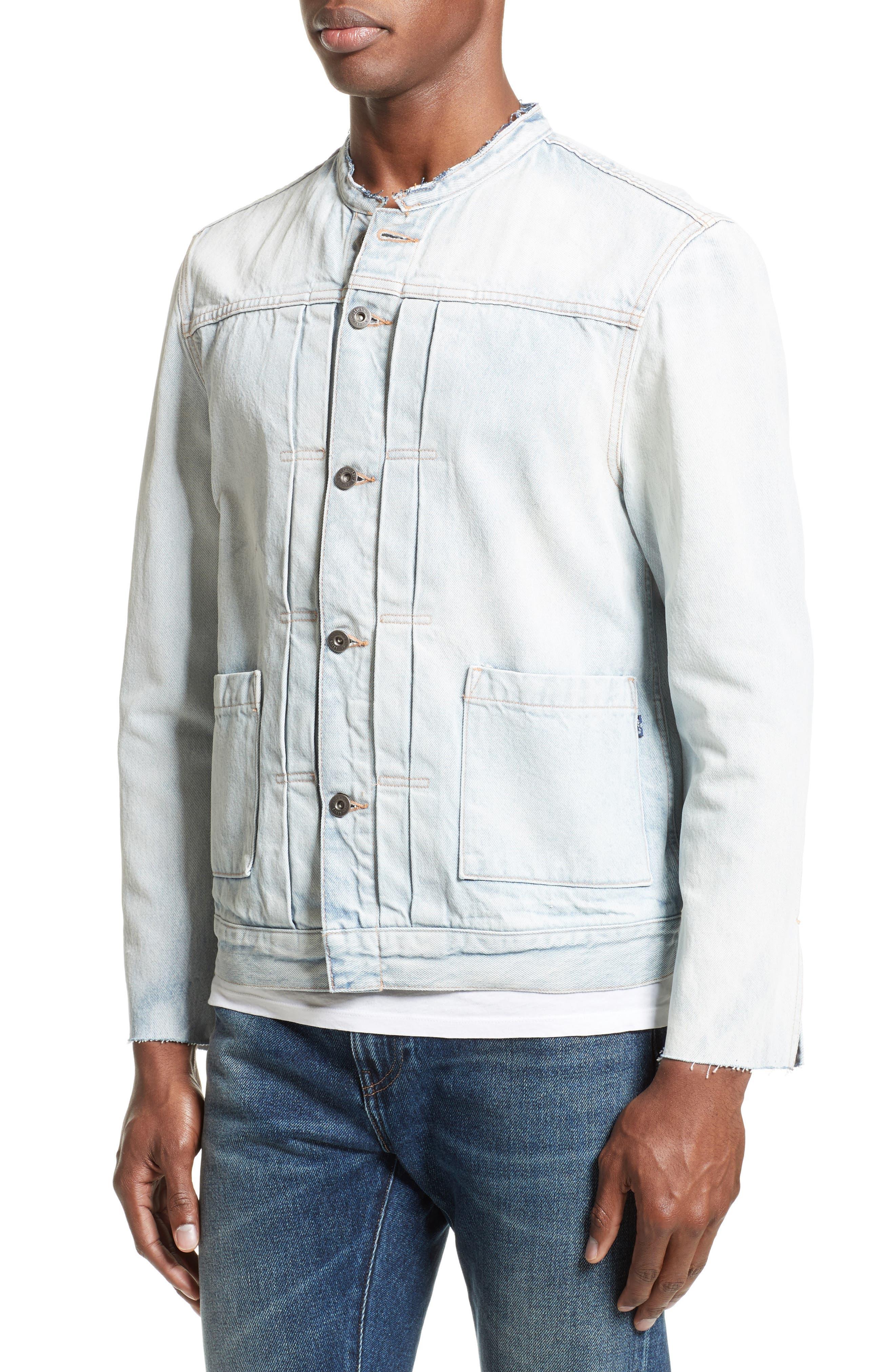 Alternate Image 4  - Levi's® Made & Crafted™ Type II Trucker Raw Edge Denim Jacket