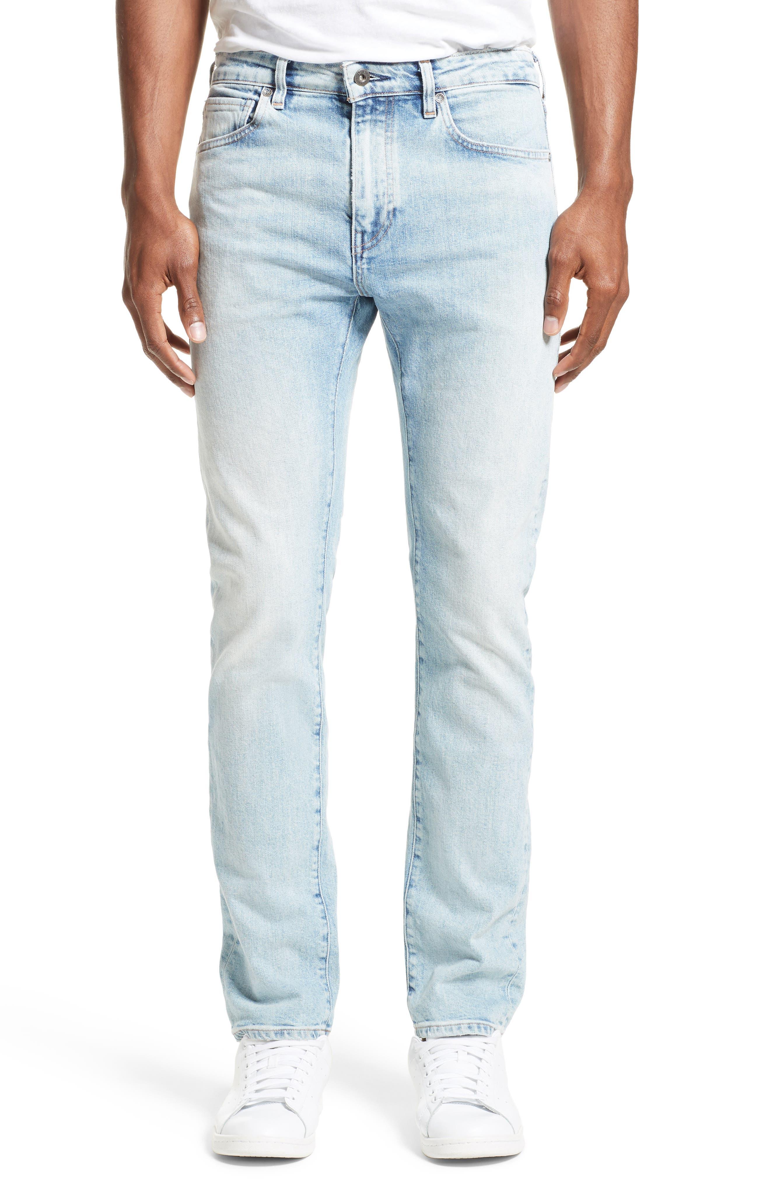 Tack Slim Fit Jeans,                         Main,                         color, Light Blue