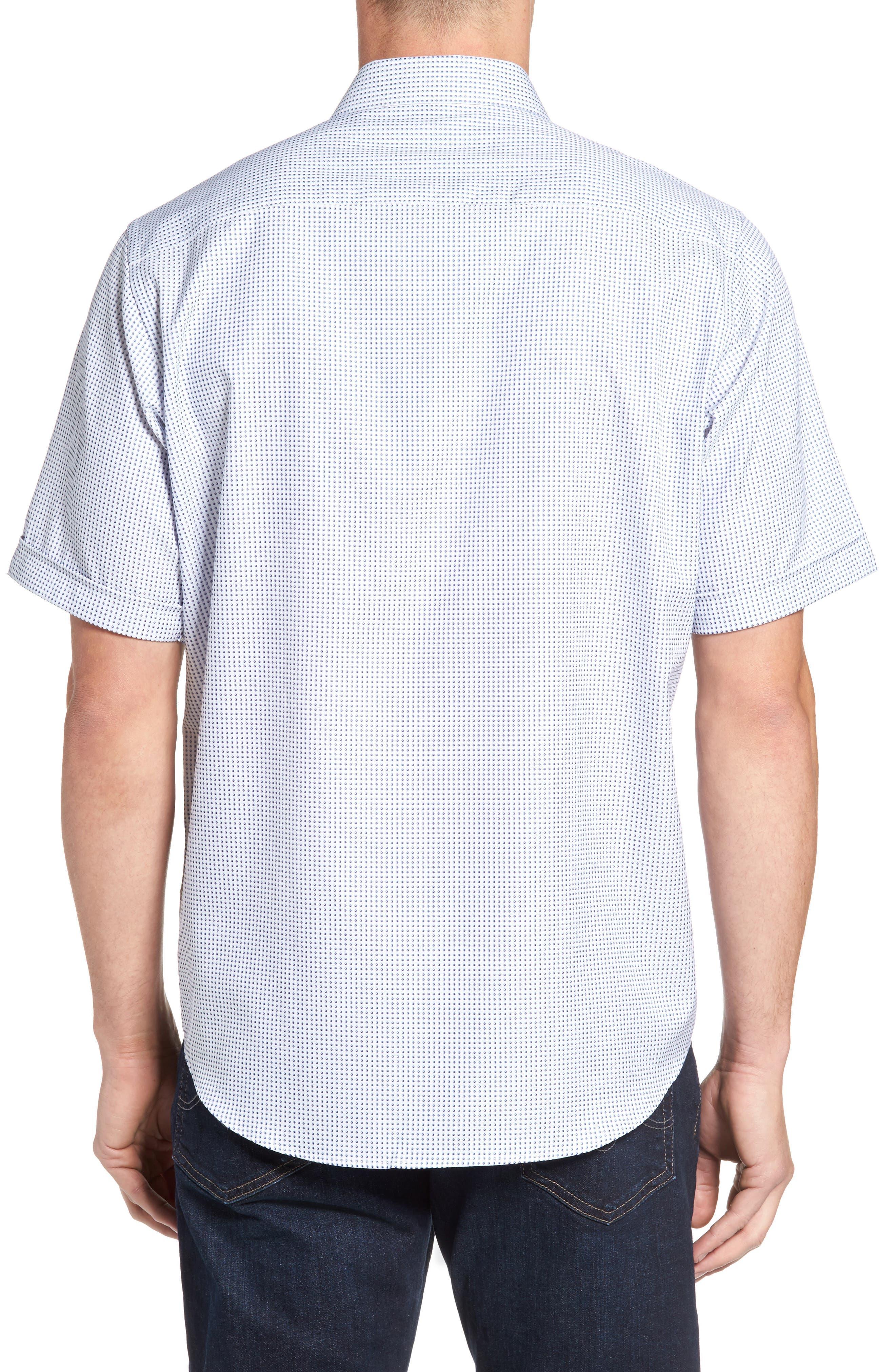 Classic Fit Dot Sport Shirt,                             Alternate thumbnail 2, color,                             Navy