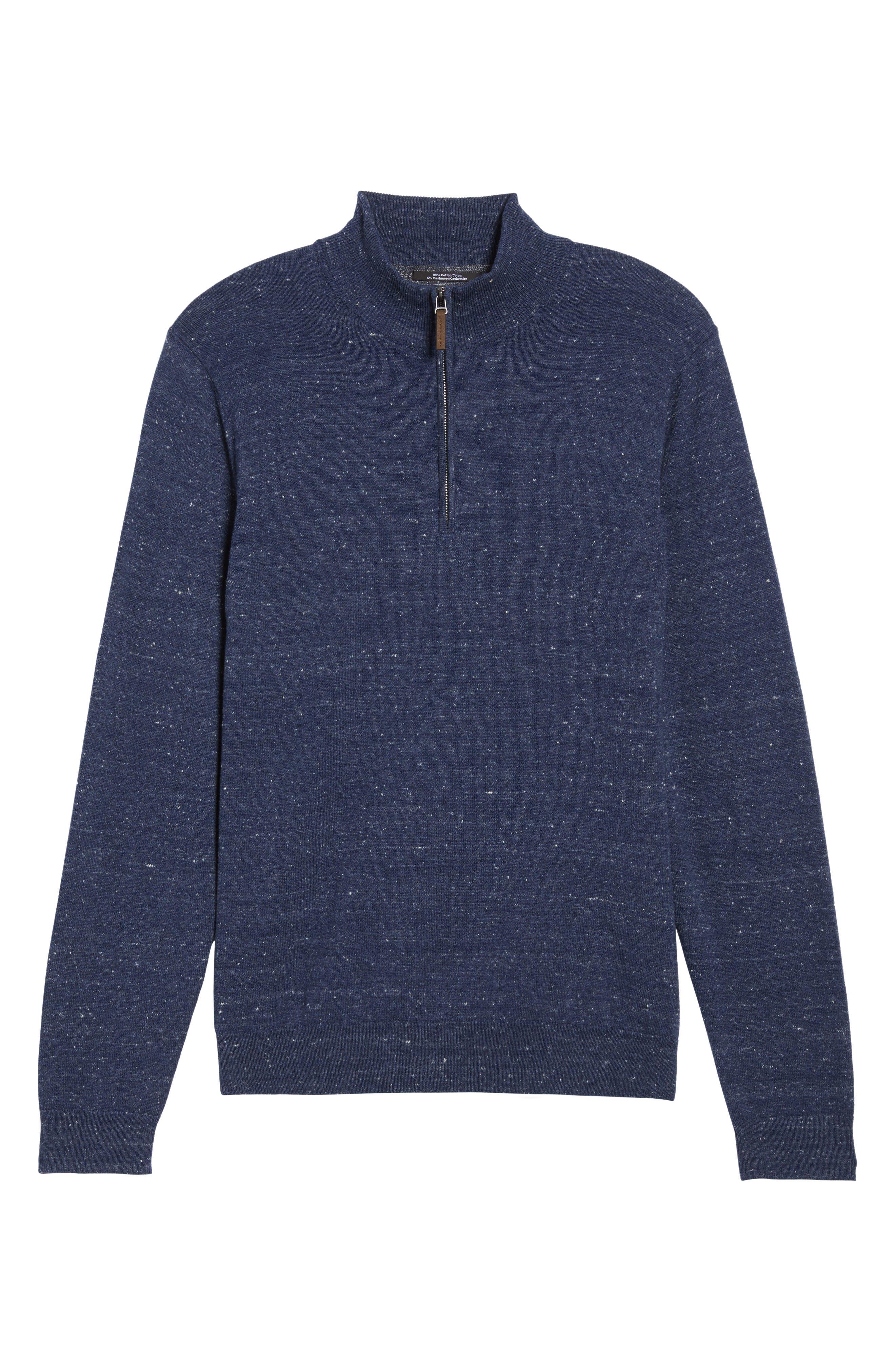 Alternate Image 6  - Nordstrom Men's Shop Half Zip Cotton & Cashmere Pullover (Regular & Tall)