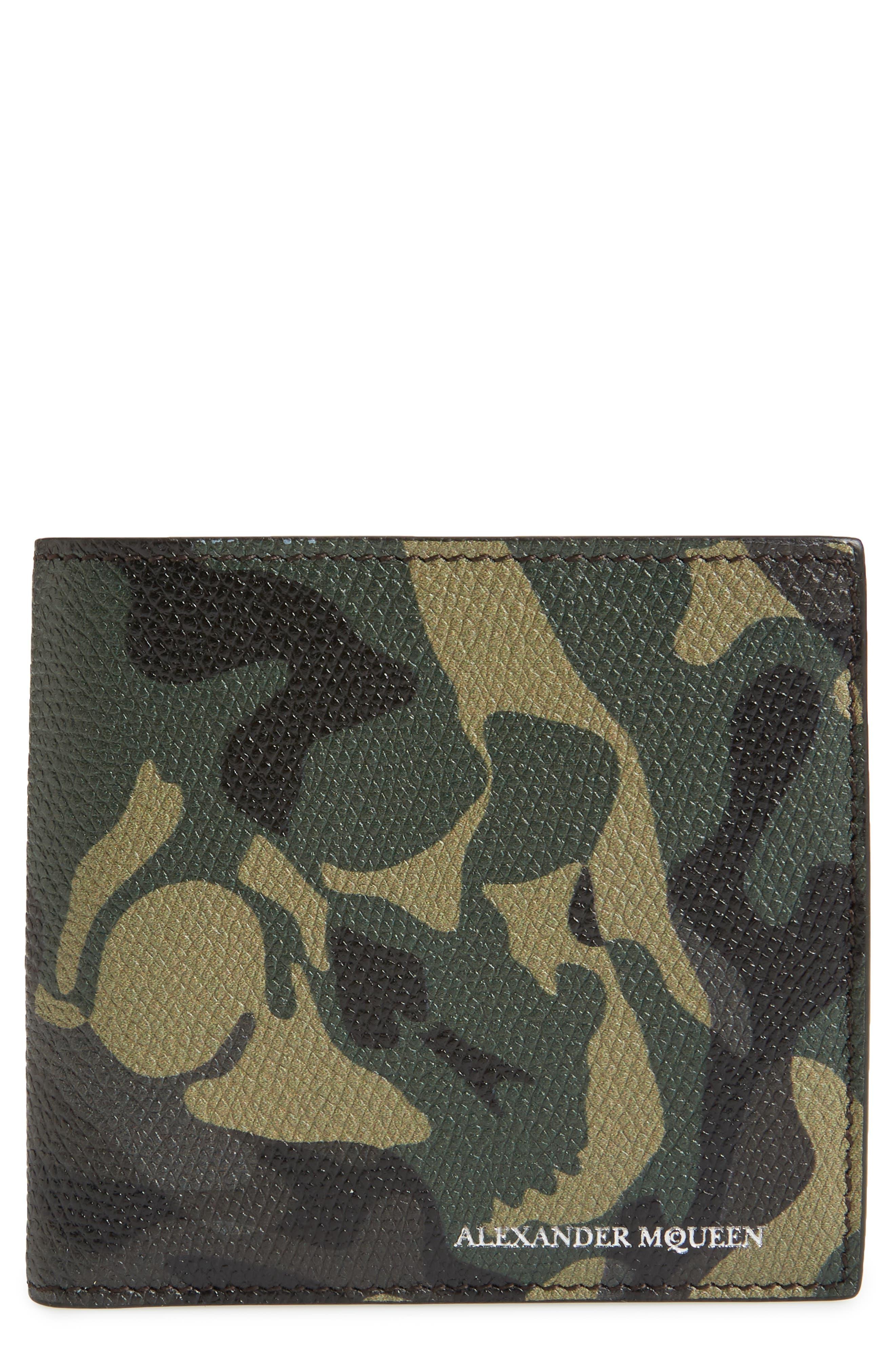 Main Image - Alexander McQueen Camo Leather Billfold Wallet