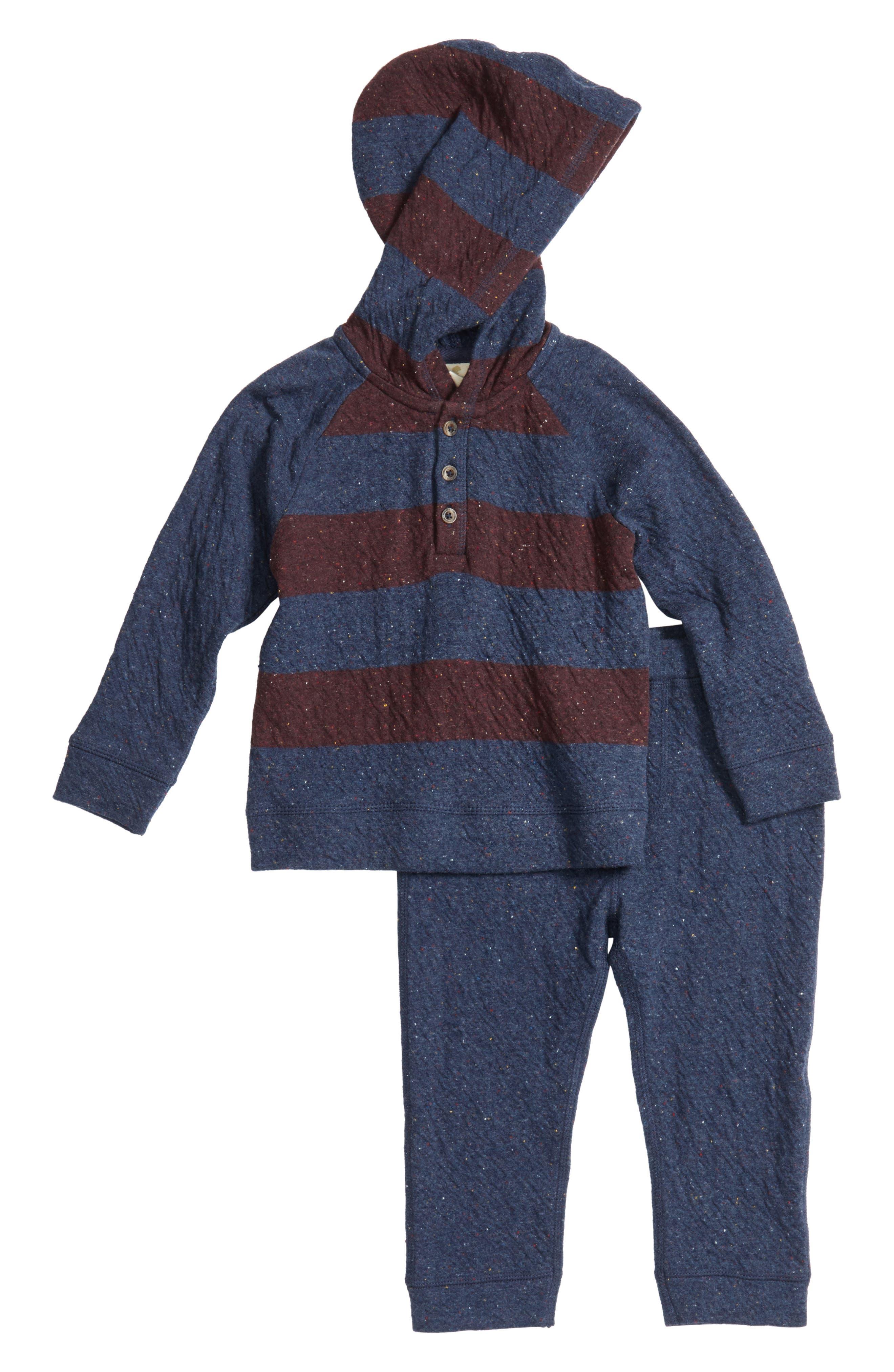 Tucker + Tate Double Knit Hoodie & Pants Set (Baby Boys)