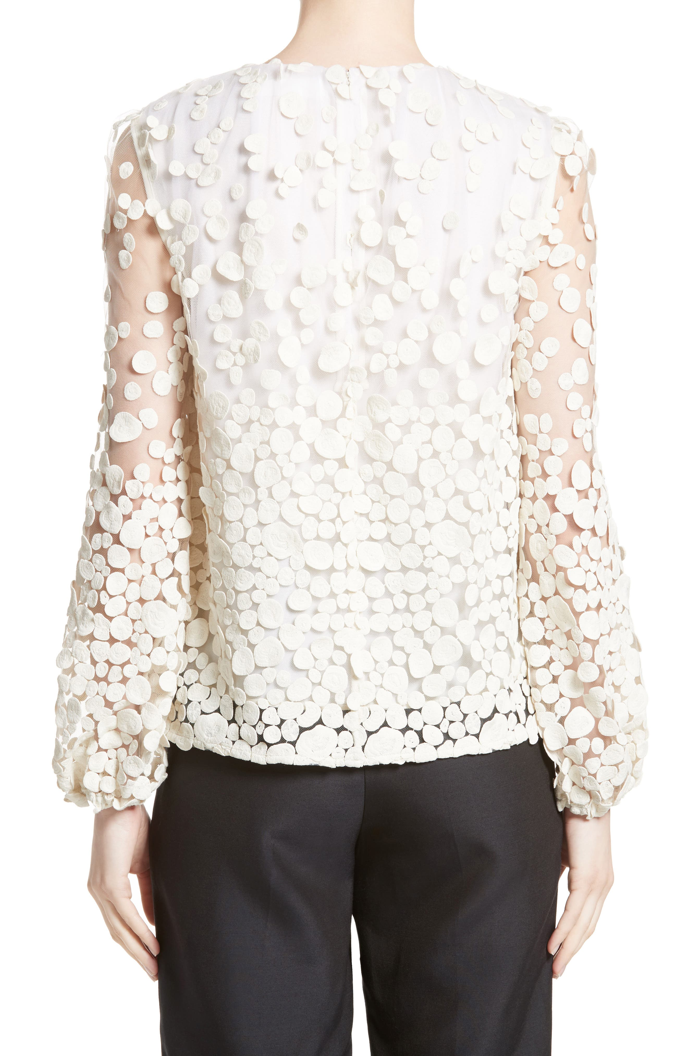 Alternate Image 2  - Co Pebbles Embroidered Mesh Peasant Top