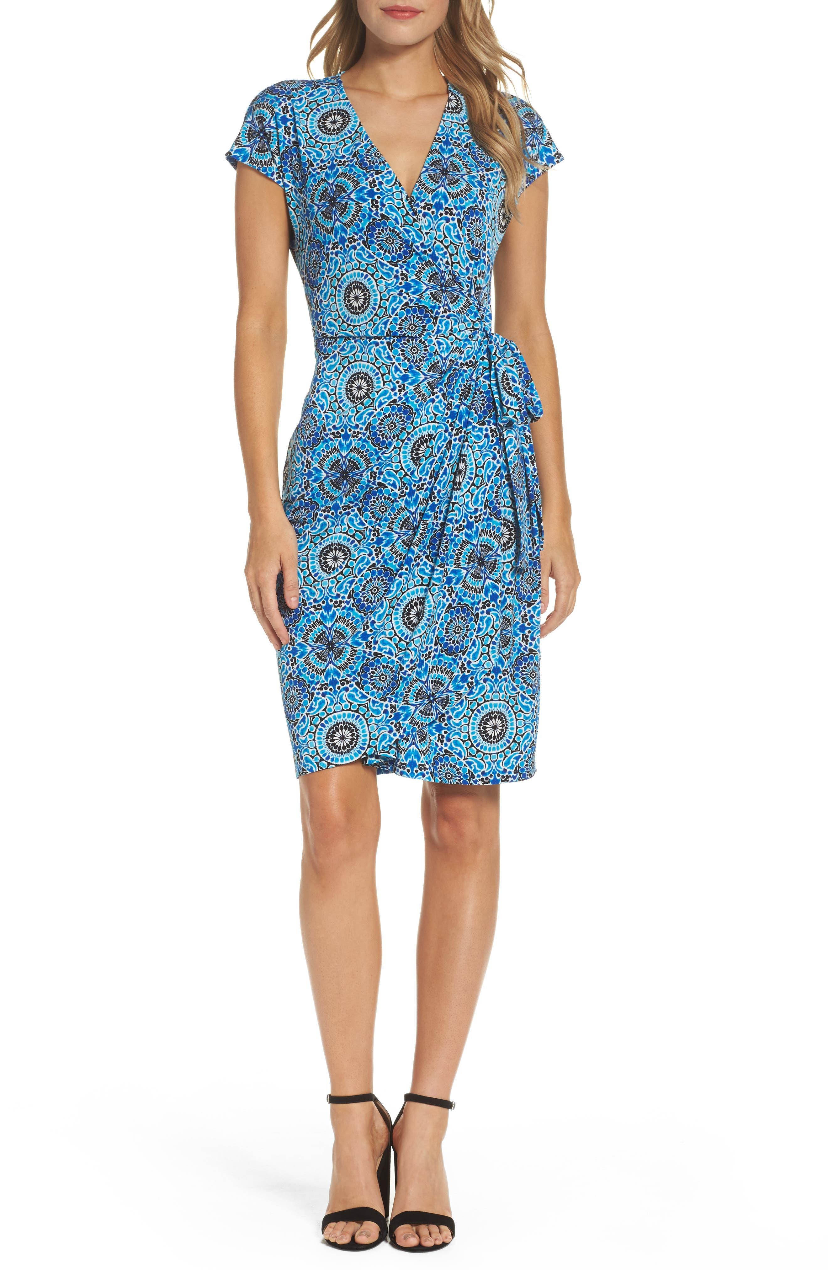 MAGGY LONDON Jersey Wrap Dress