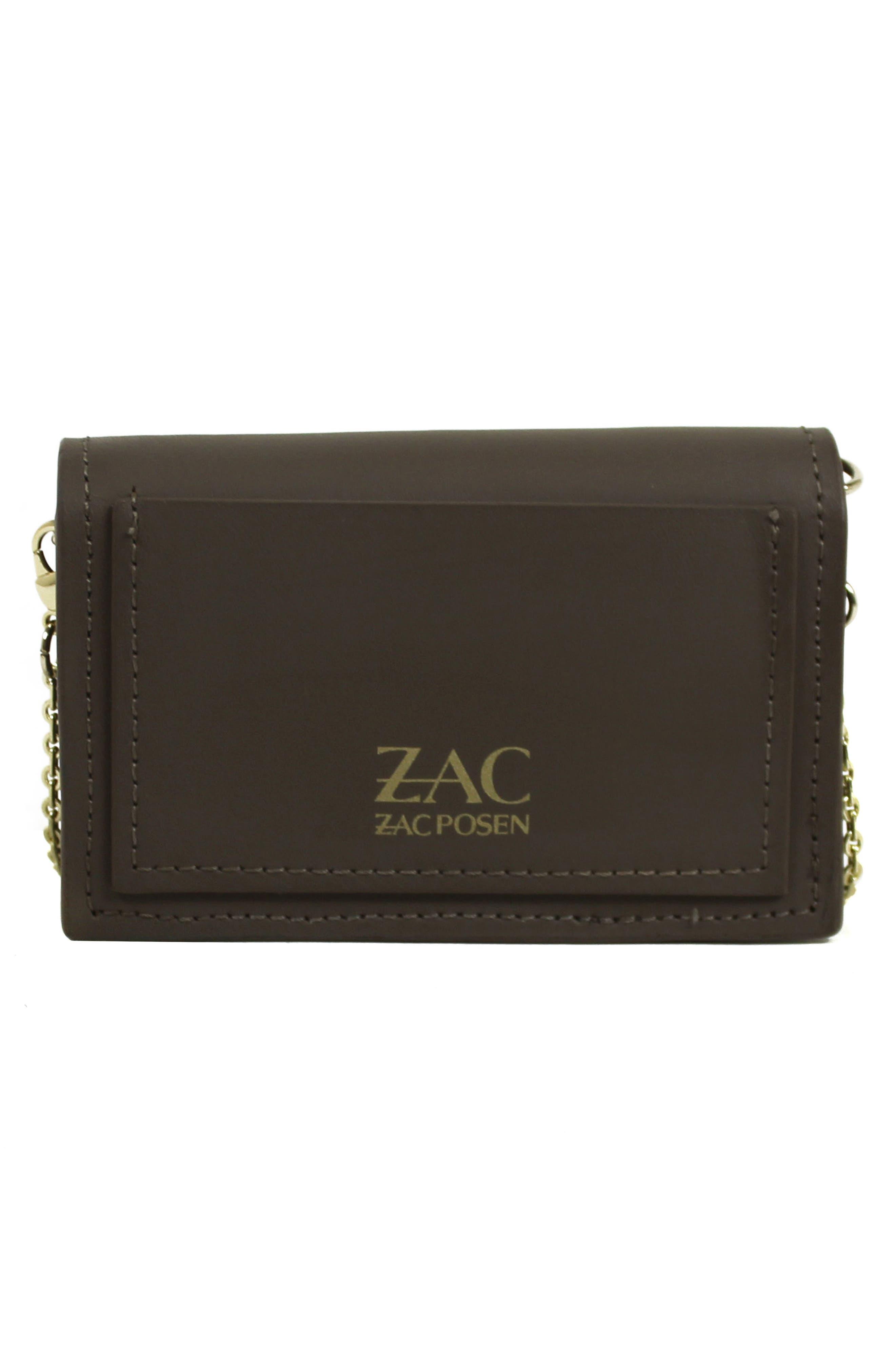Alternate Image 2  - ZAC Zac Posen Earthette Leather Card Case