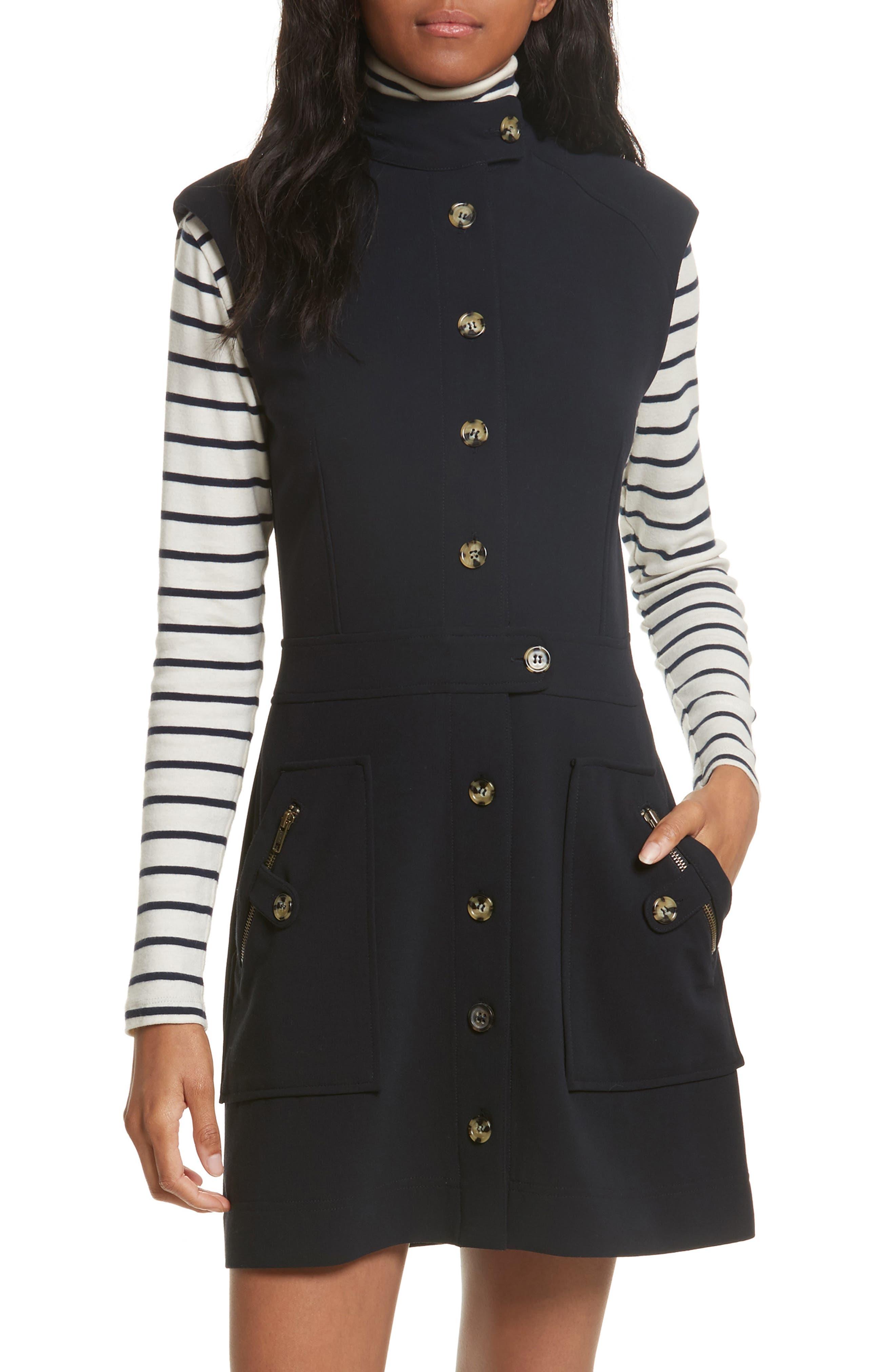Leigh Mod Dress,                         Main,                         color, Dark Navy