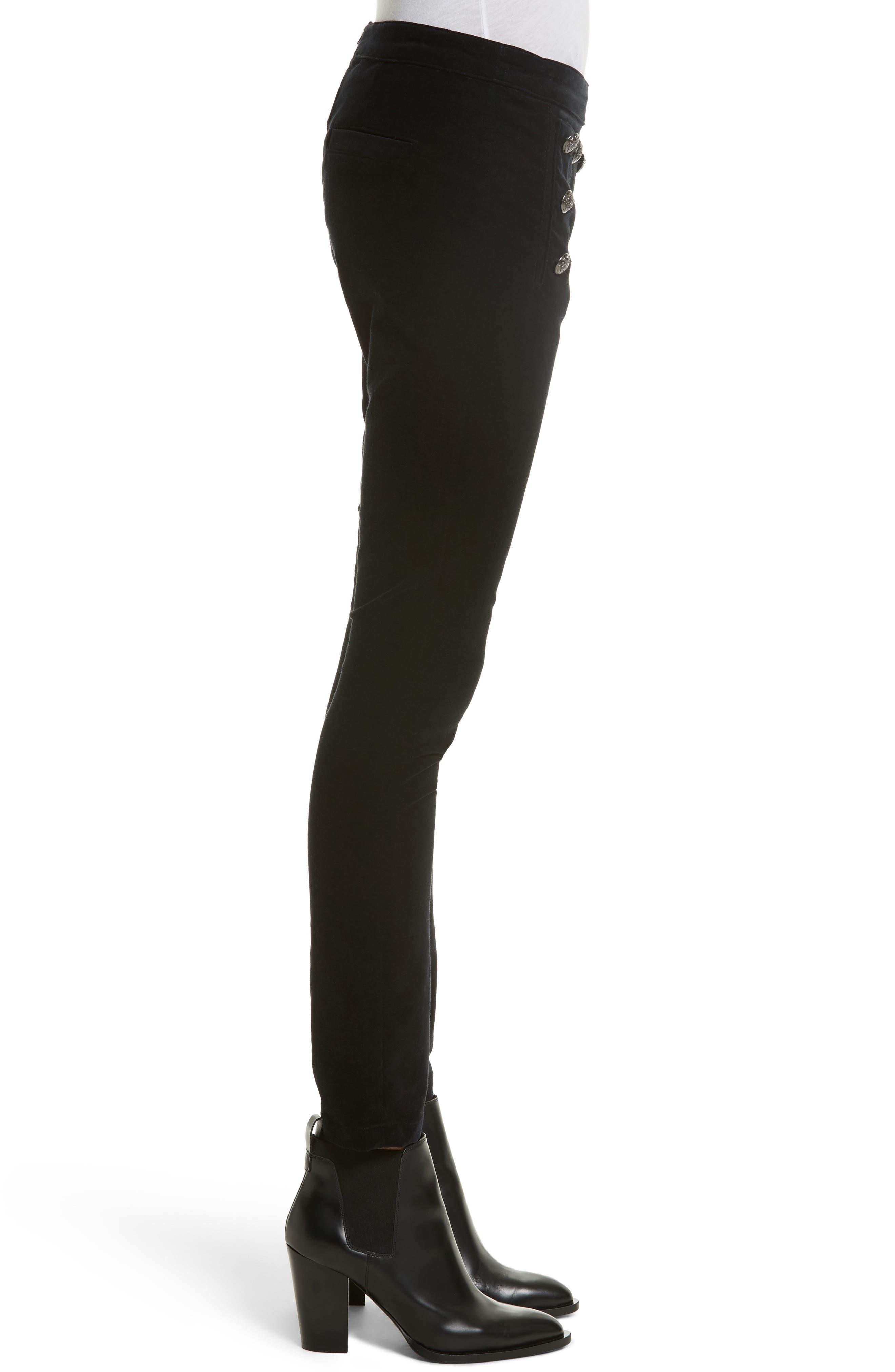 Alternate Image 4  - Veronica Beard Jane Velvet Jeans