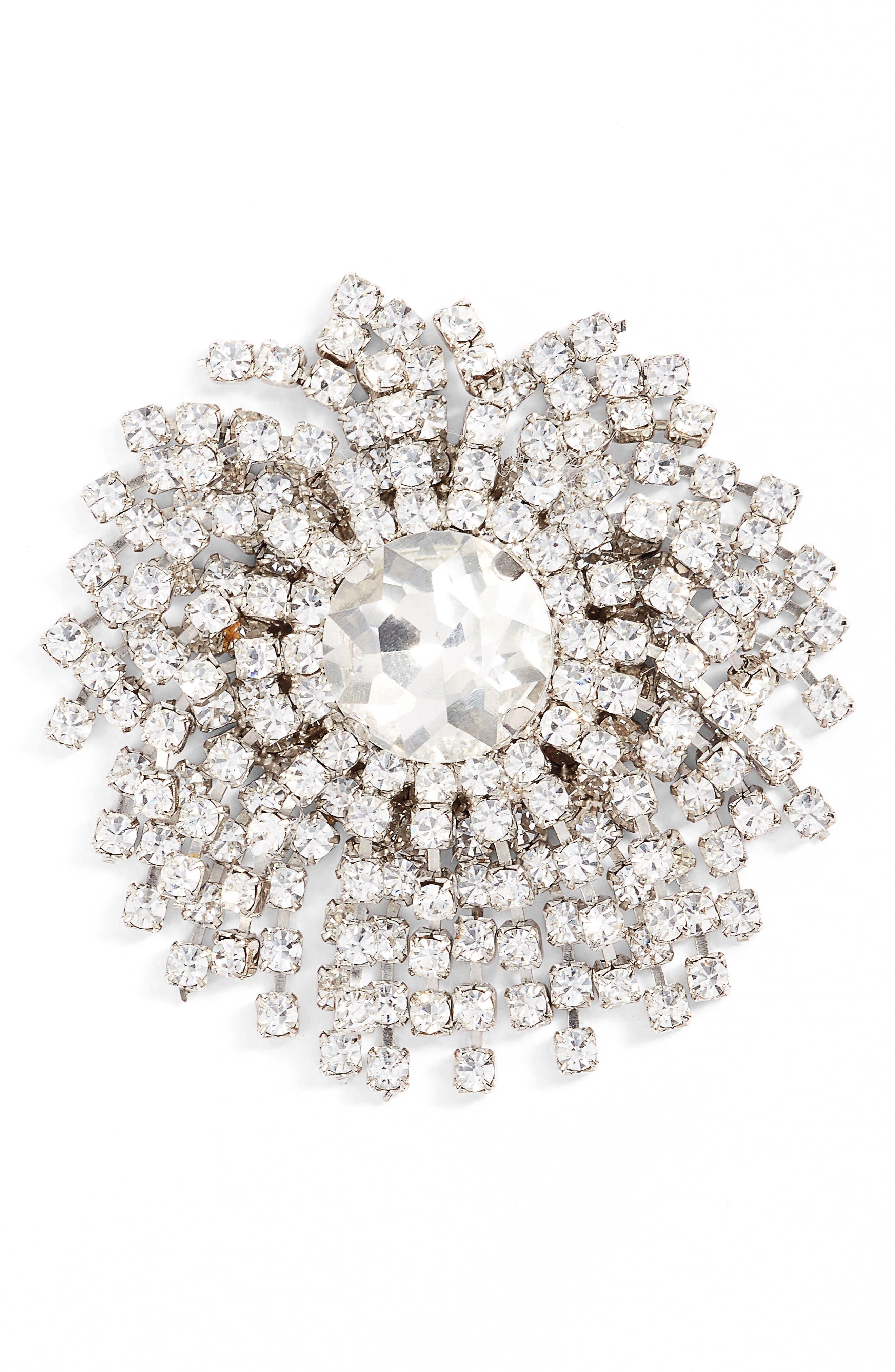 CRISTABELLE Starburst Crystal Pin
