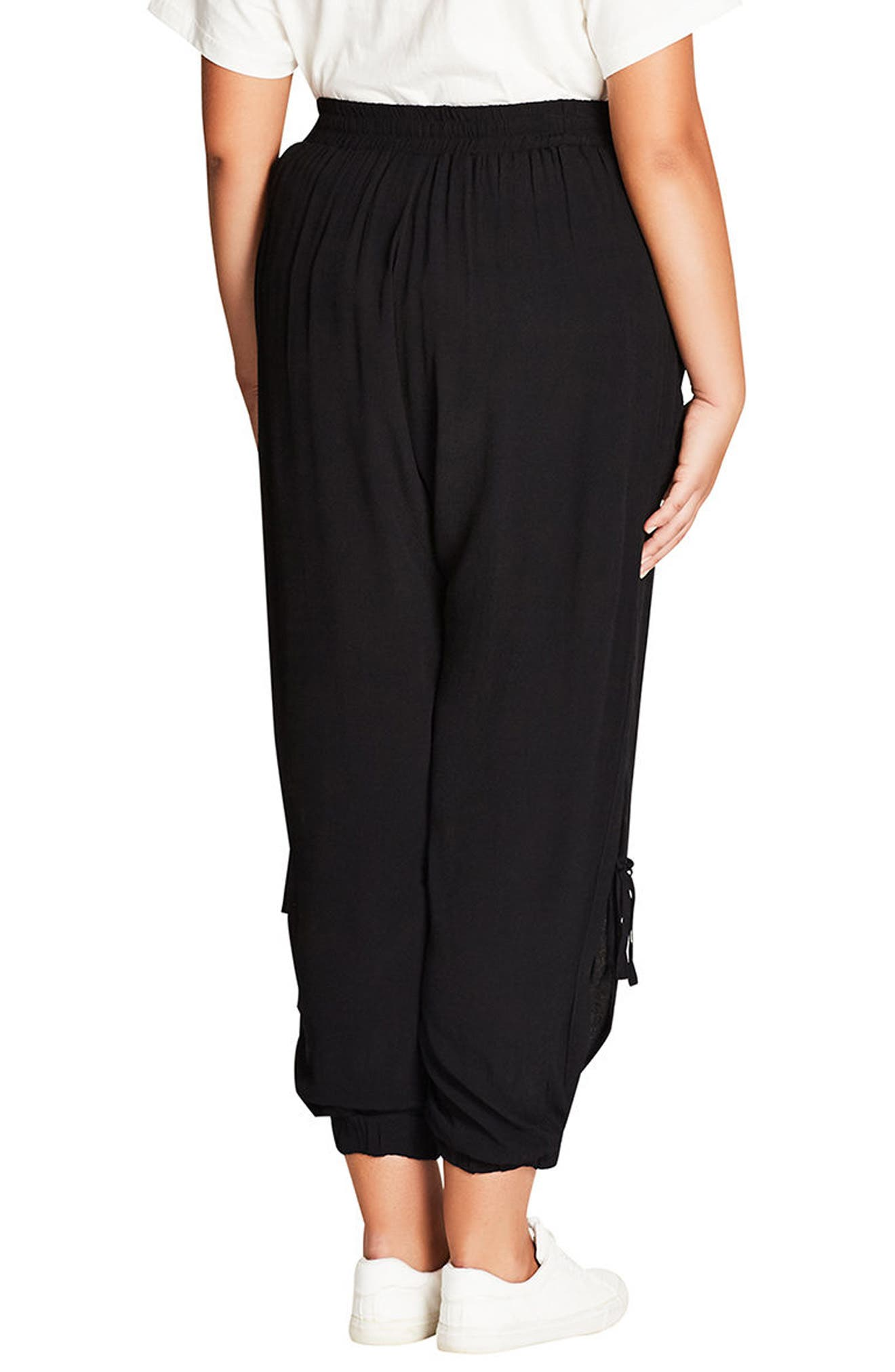 Alternate Image 2  - City Chic Side Tie Jogger Pants (Plus Size)