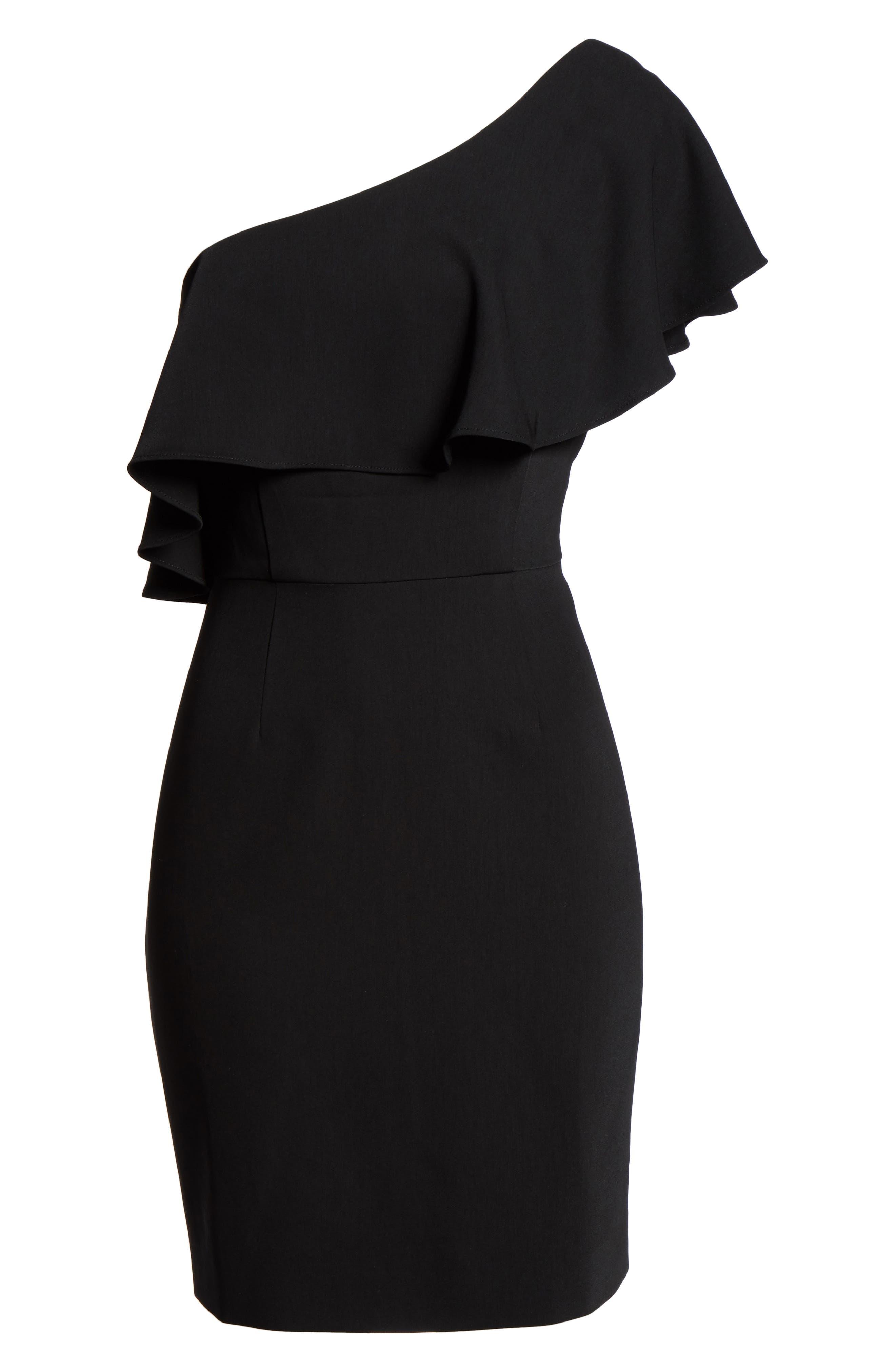 Alternate Image 6  - BB Dakota Occasion Cale One-Shoulder Crepe Sheath Dress