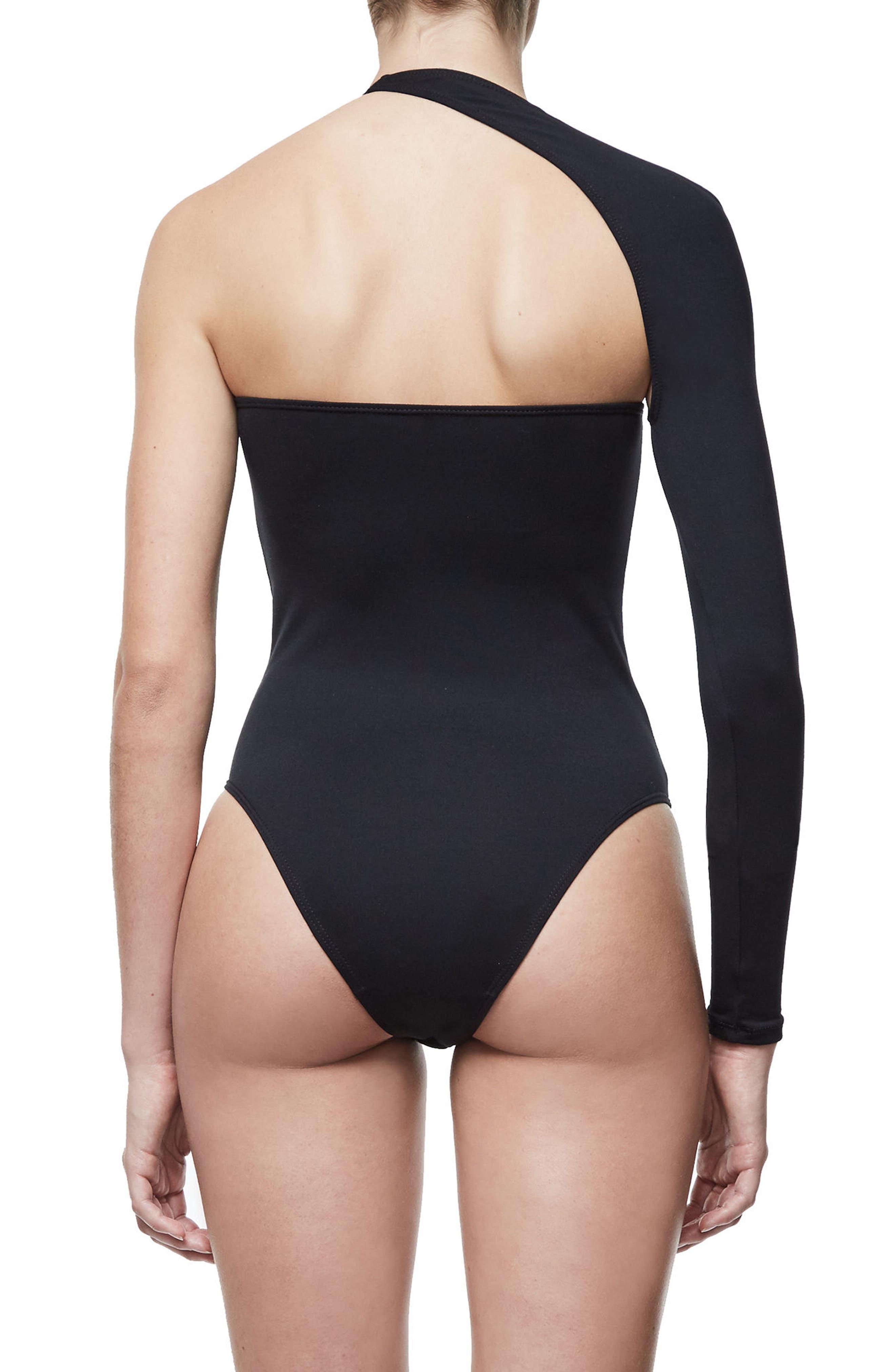 Alternate Image 3  - Good Body Asymmetrical Bodysuit (Extended Sizes)
