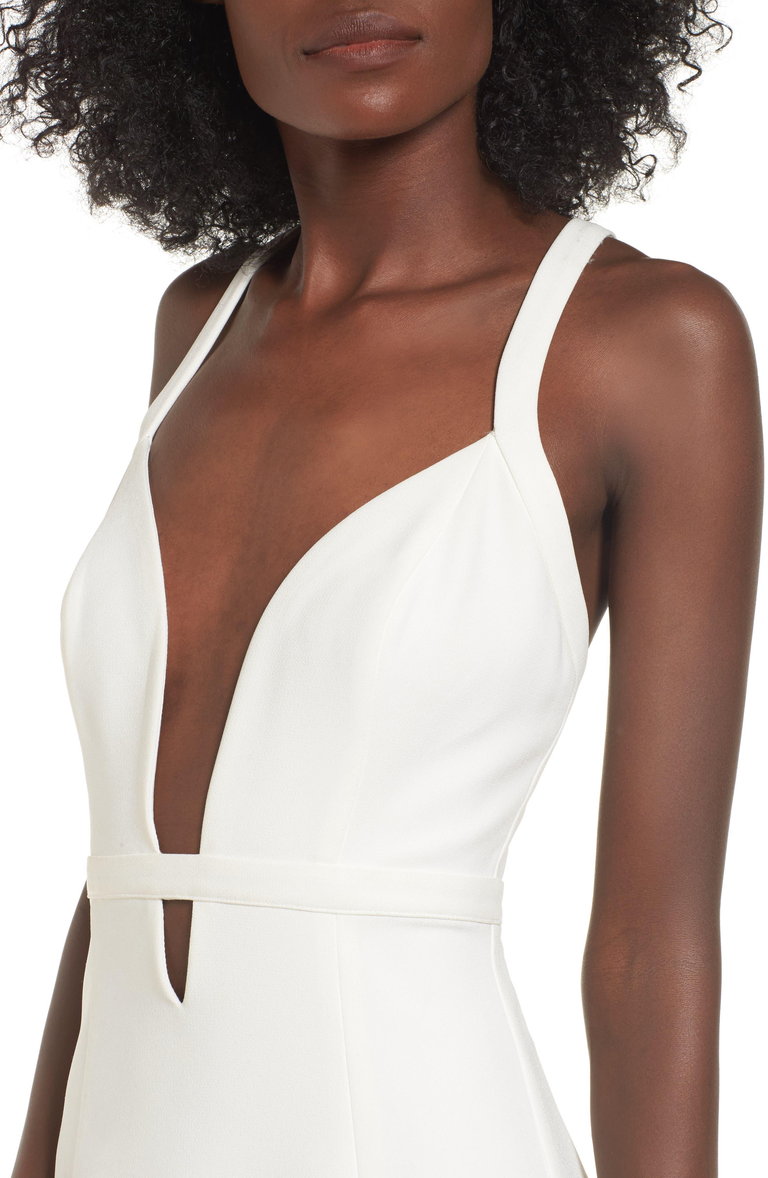 Offense Sheath Dress,                             Alternate thumbnail 4, color,                             Ivory