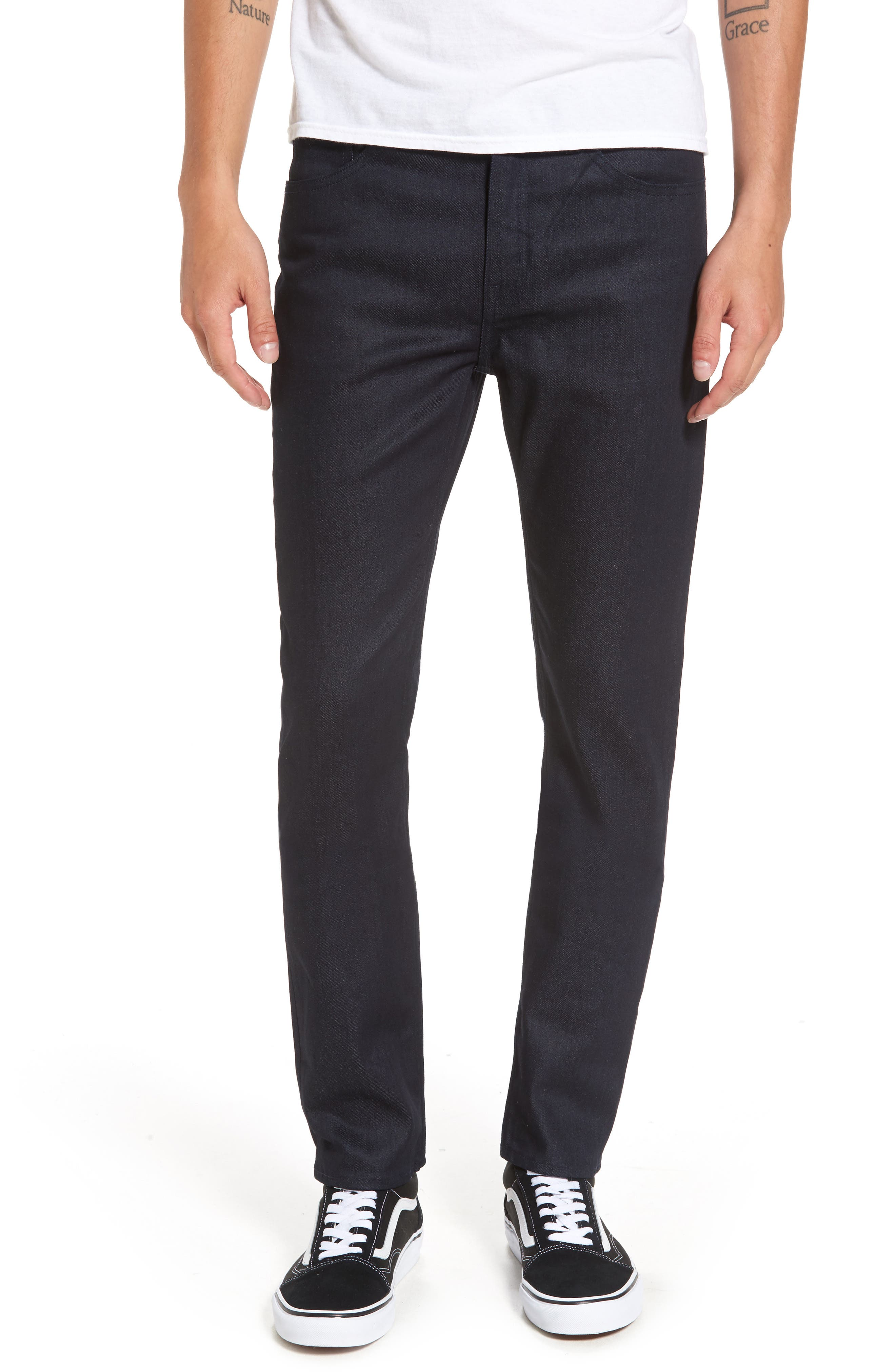 Alternate Image 1 Selected - Cheap Monday Sonic Skinny Fit Jeans (Unwashed Blue)