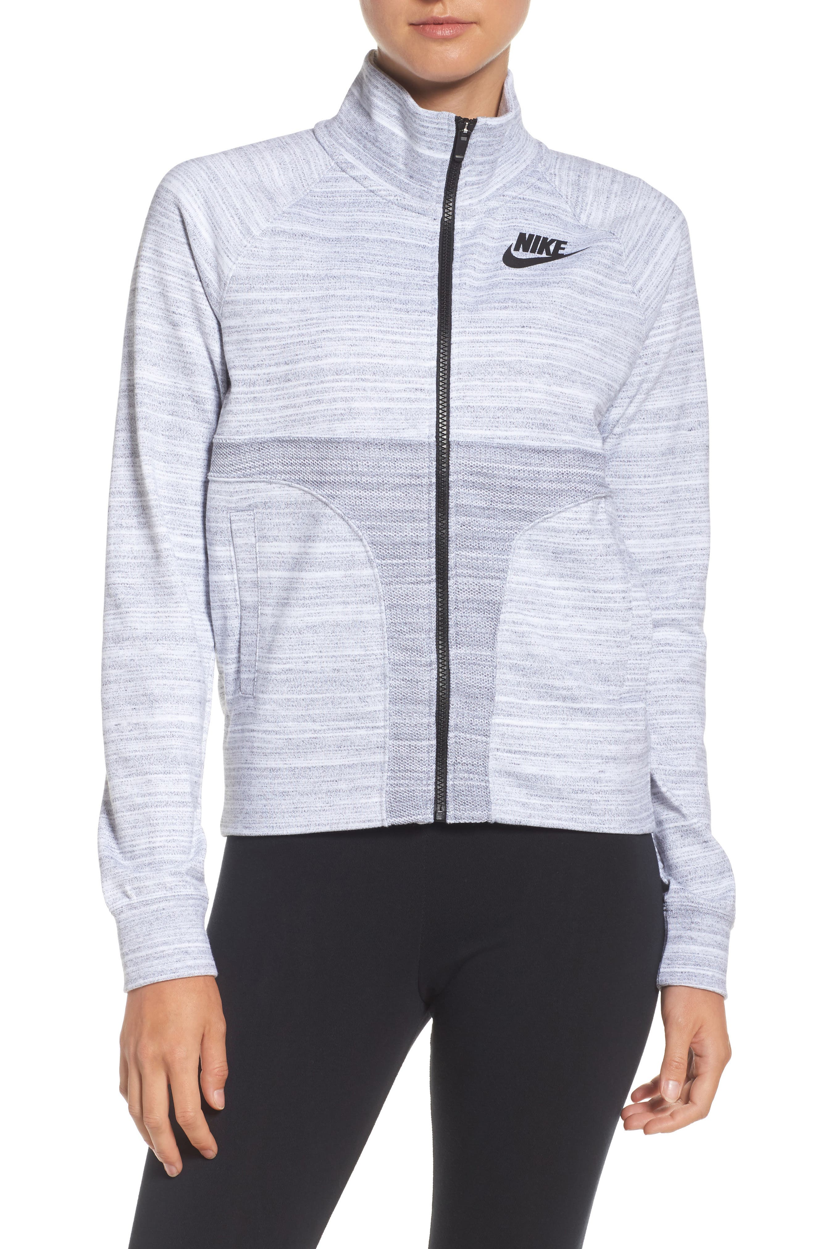 Sportswear Advance 15 Track Jacket,                         Main,                         color, White/ Black