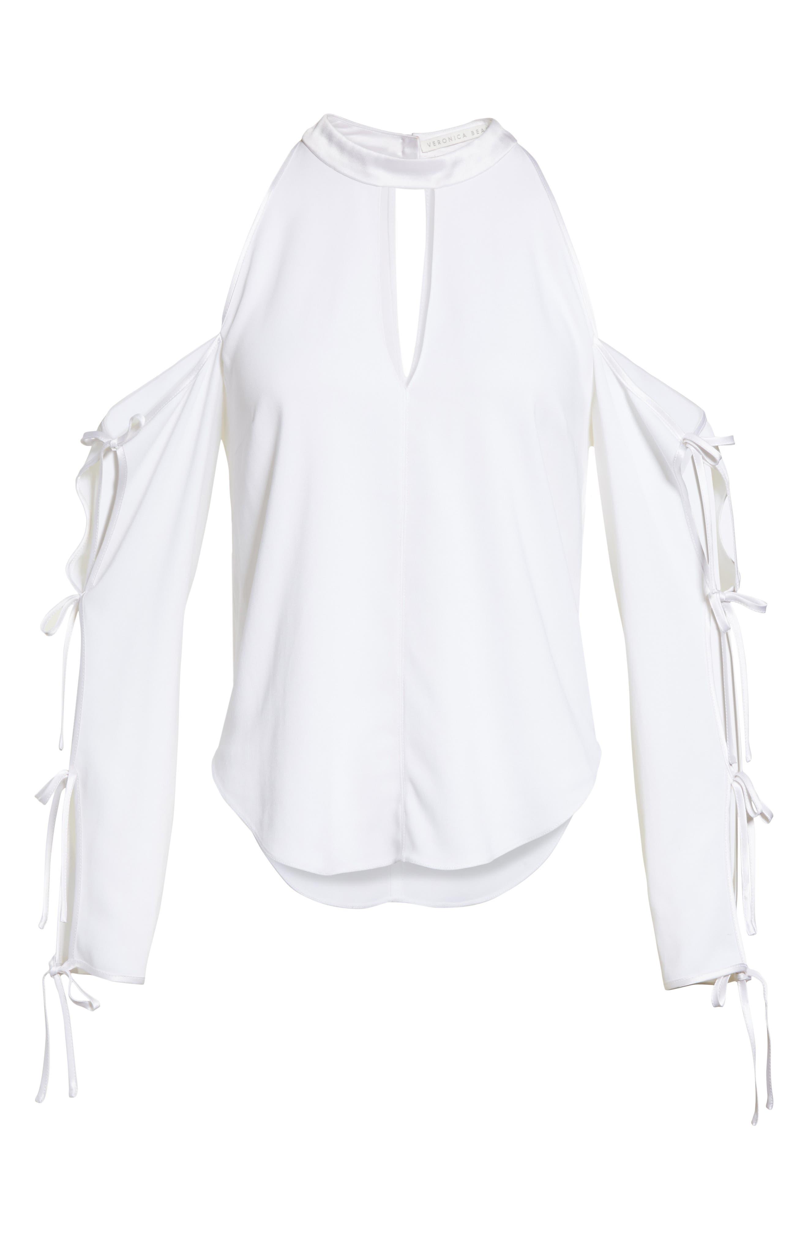 Alternate Image 6  - Veronica Beard Lachland Cold Shoulder Top