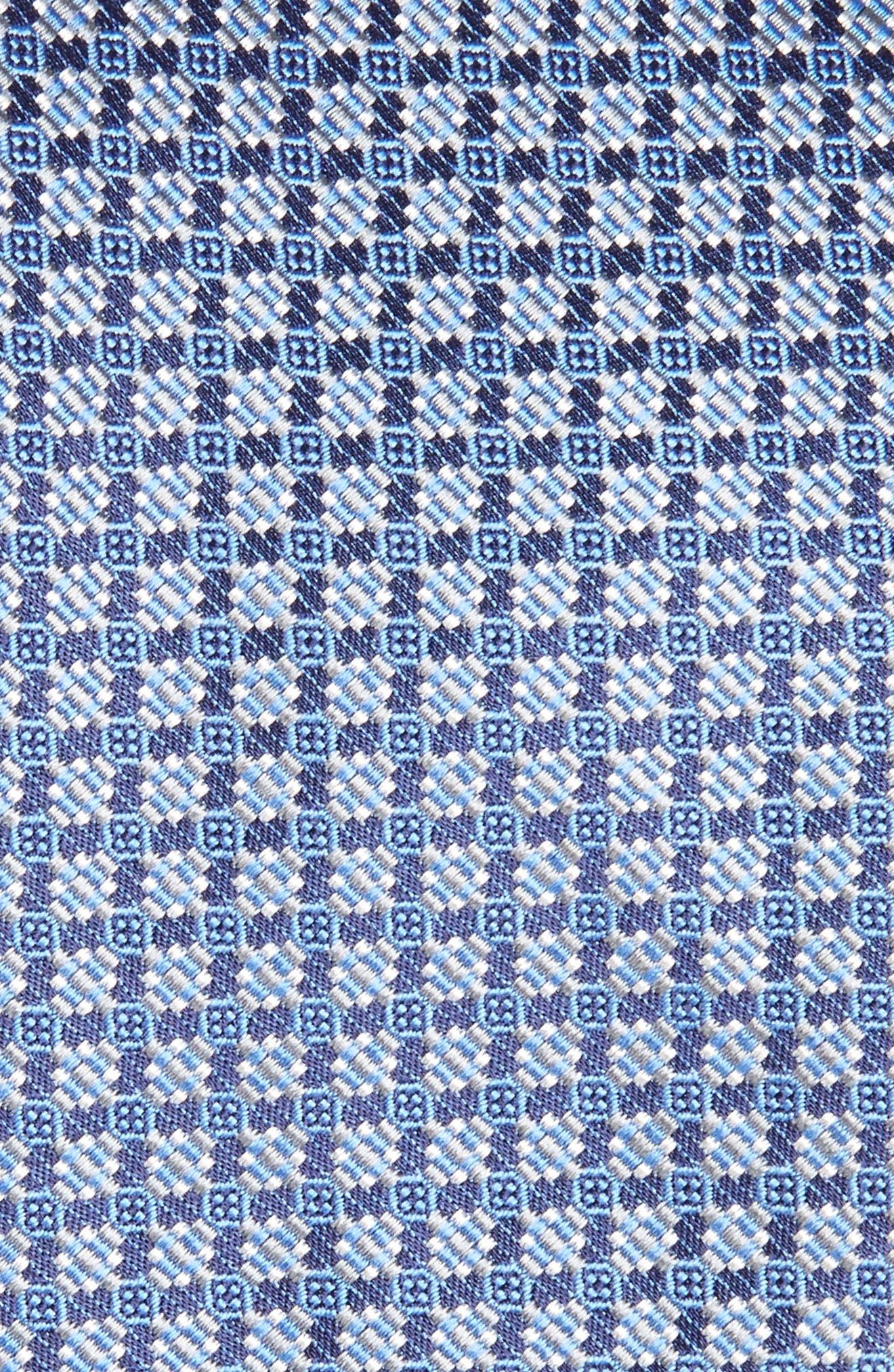 Neat Silk Tie,                             Alternate thumbnail 2, color,                             Blue/ Grey