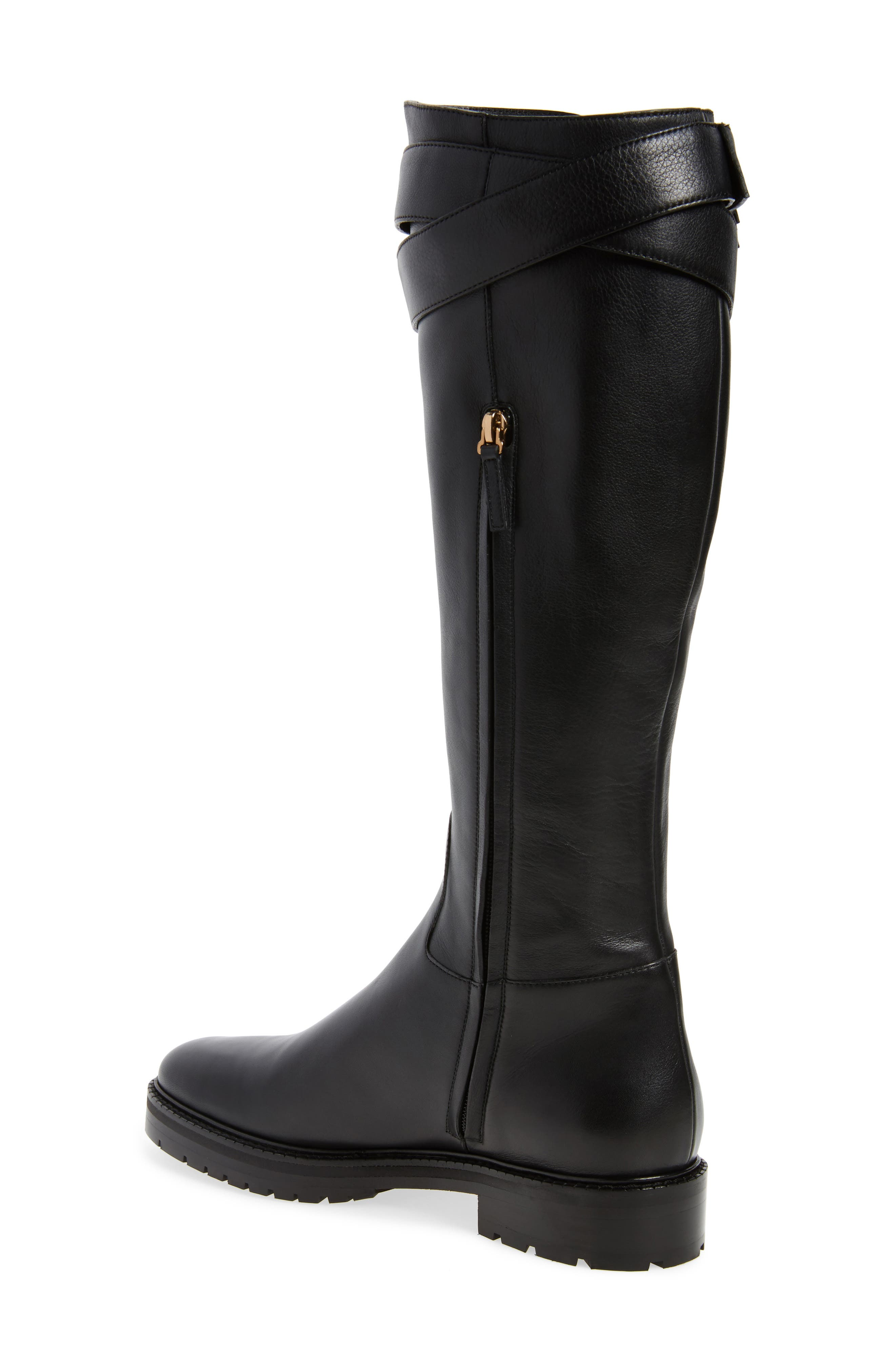 Bowrap Knee-High Boot,                             Alternate thumbnail 2, color,                             Black