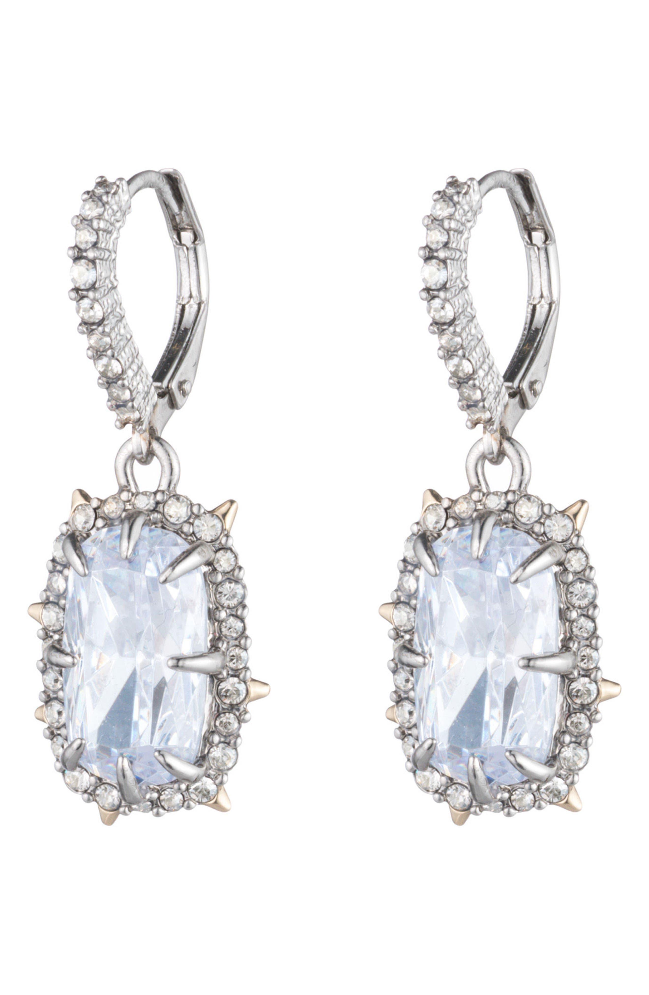 ALEXIS BITTAR Swarovski Crystal Drop Earrings